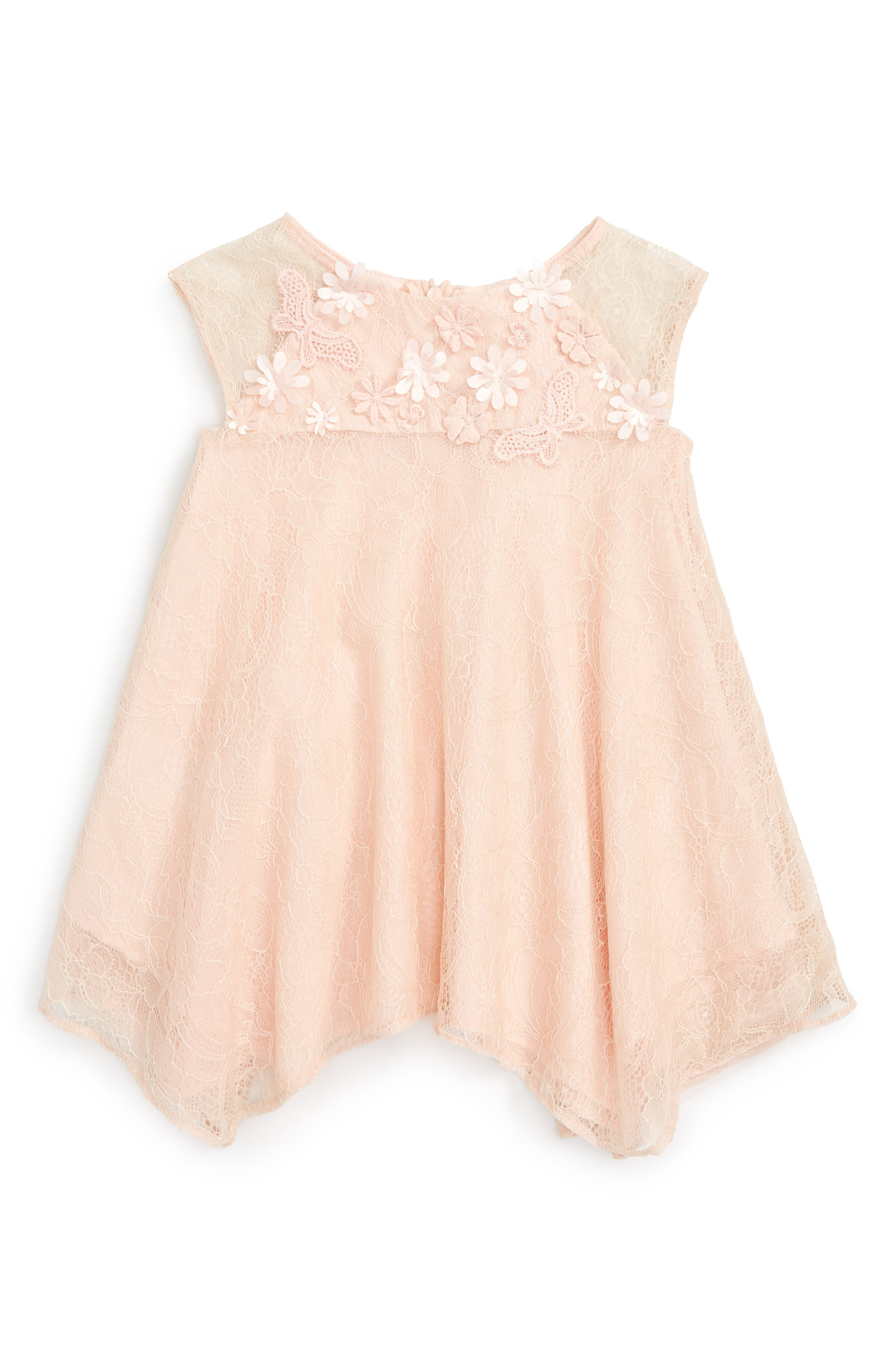 Popatu Floral Embellished Swing Dress (Baby Girls)