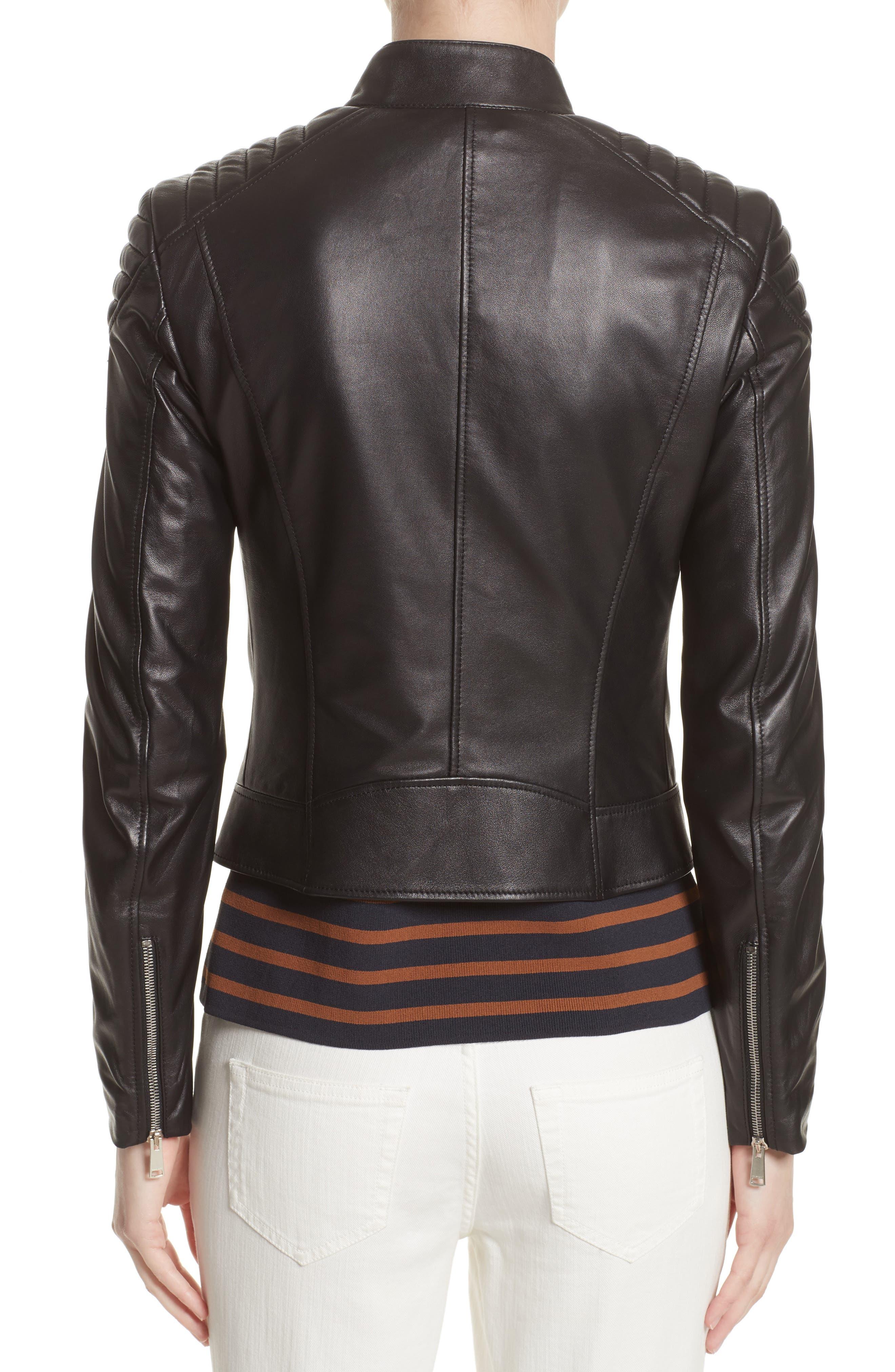 Alternate Image 2  - Belstaff Mollison Leather Moto Jacket