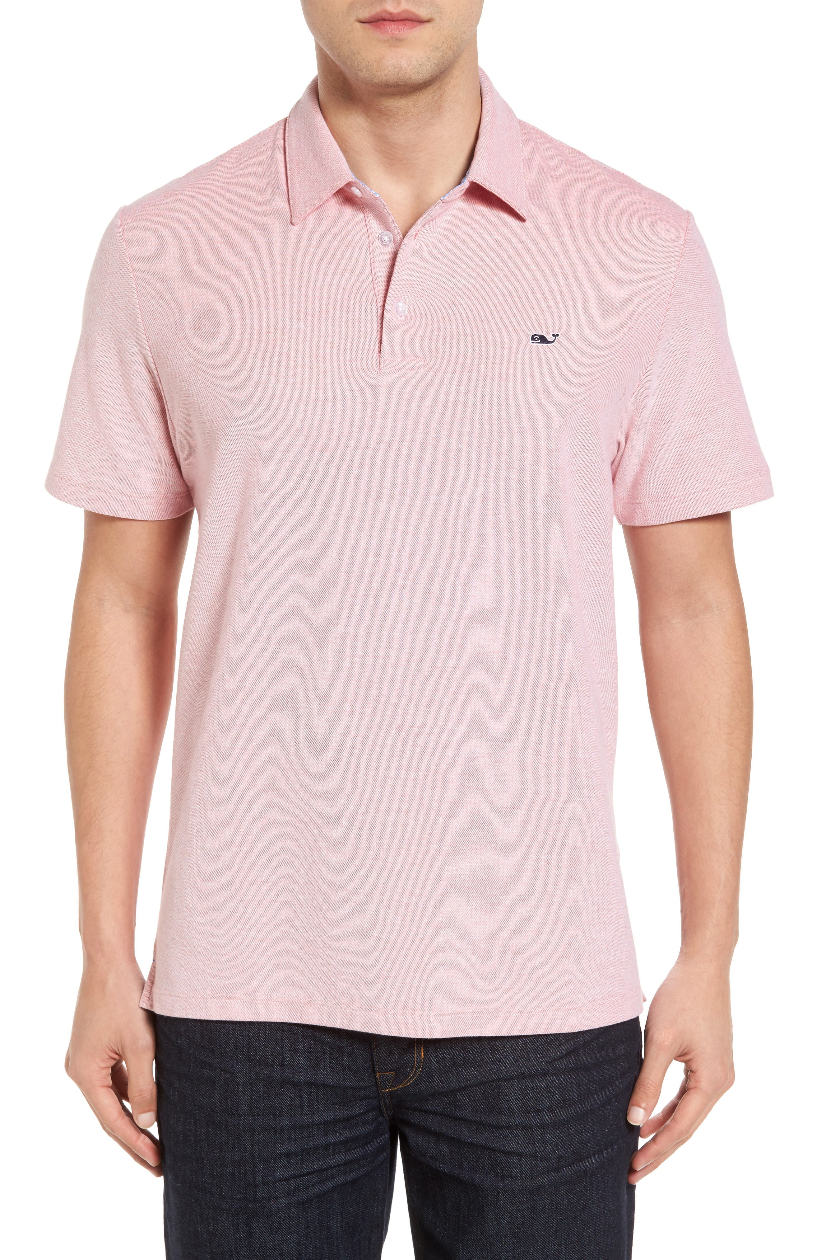 Piqué Polo,                         Main,                         color, Jetty Red