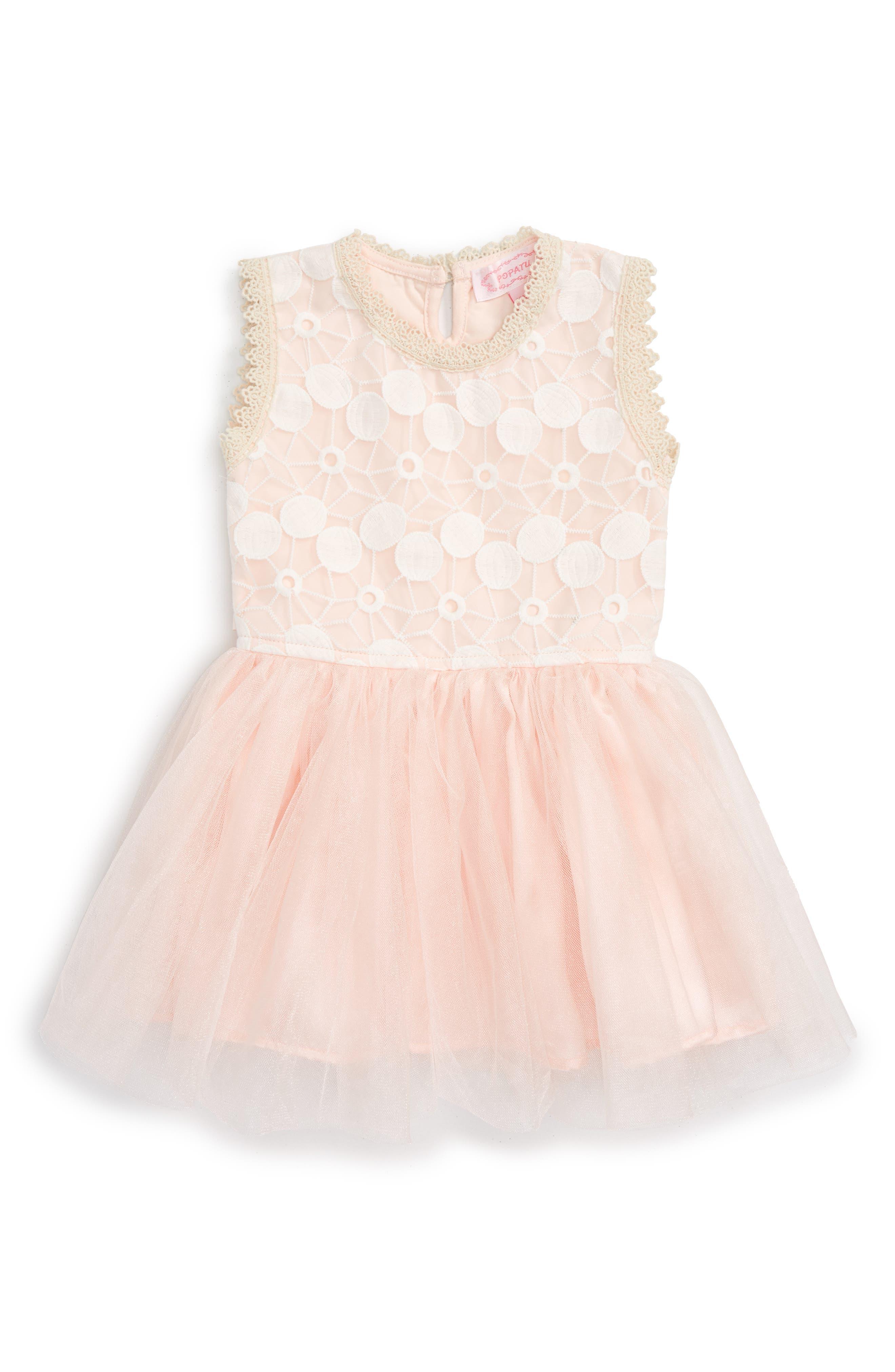 POPATU Sleeveless Lace Dress