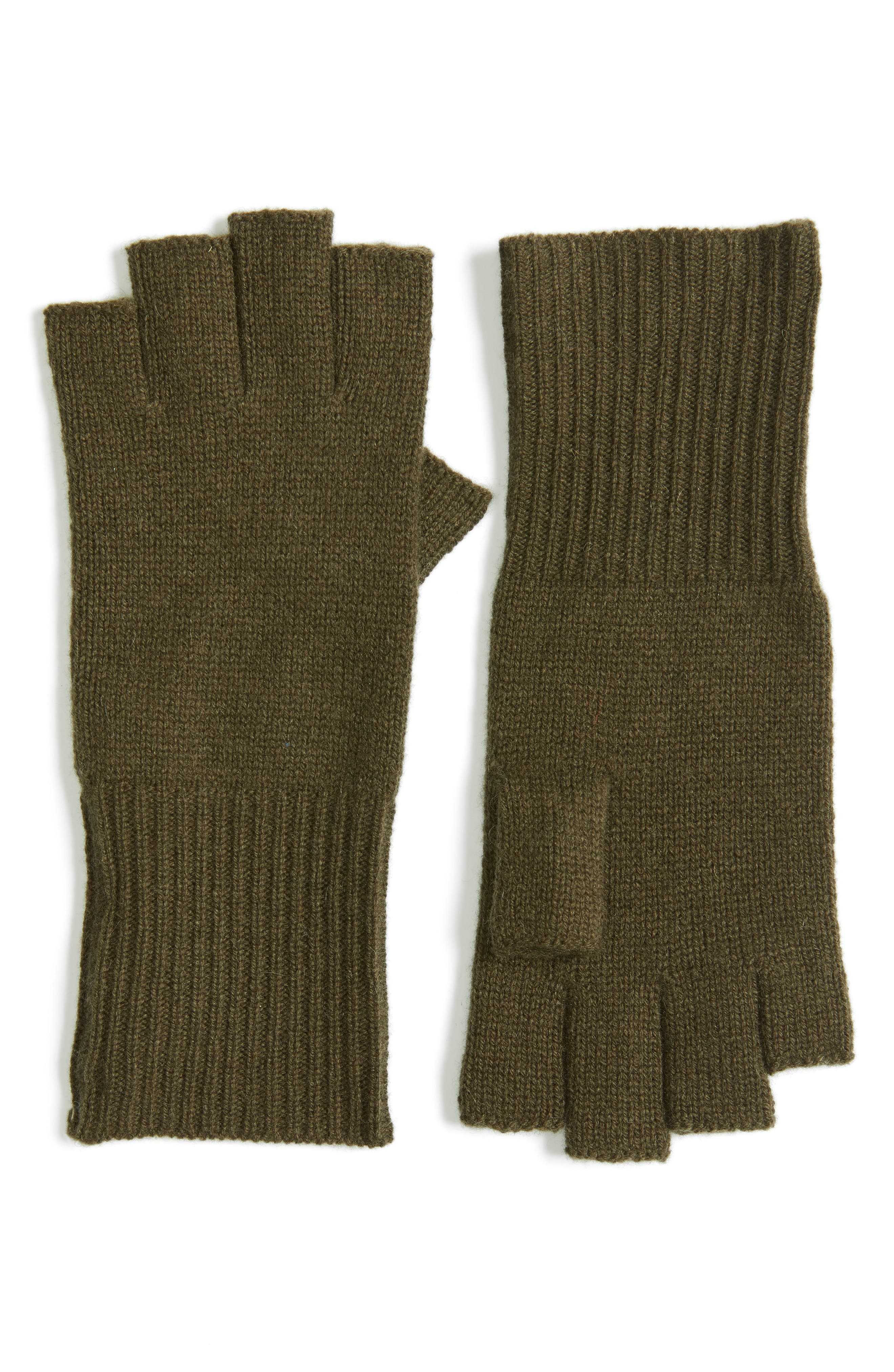 Halogen® Cashmere Fingerless Gloves