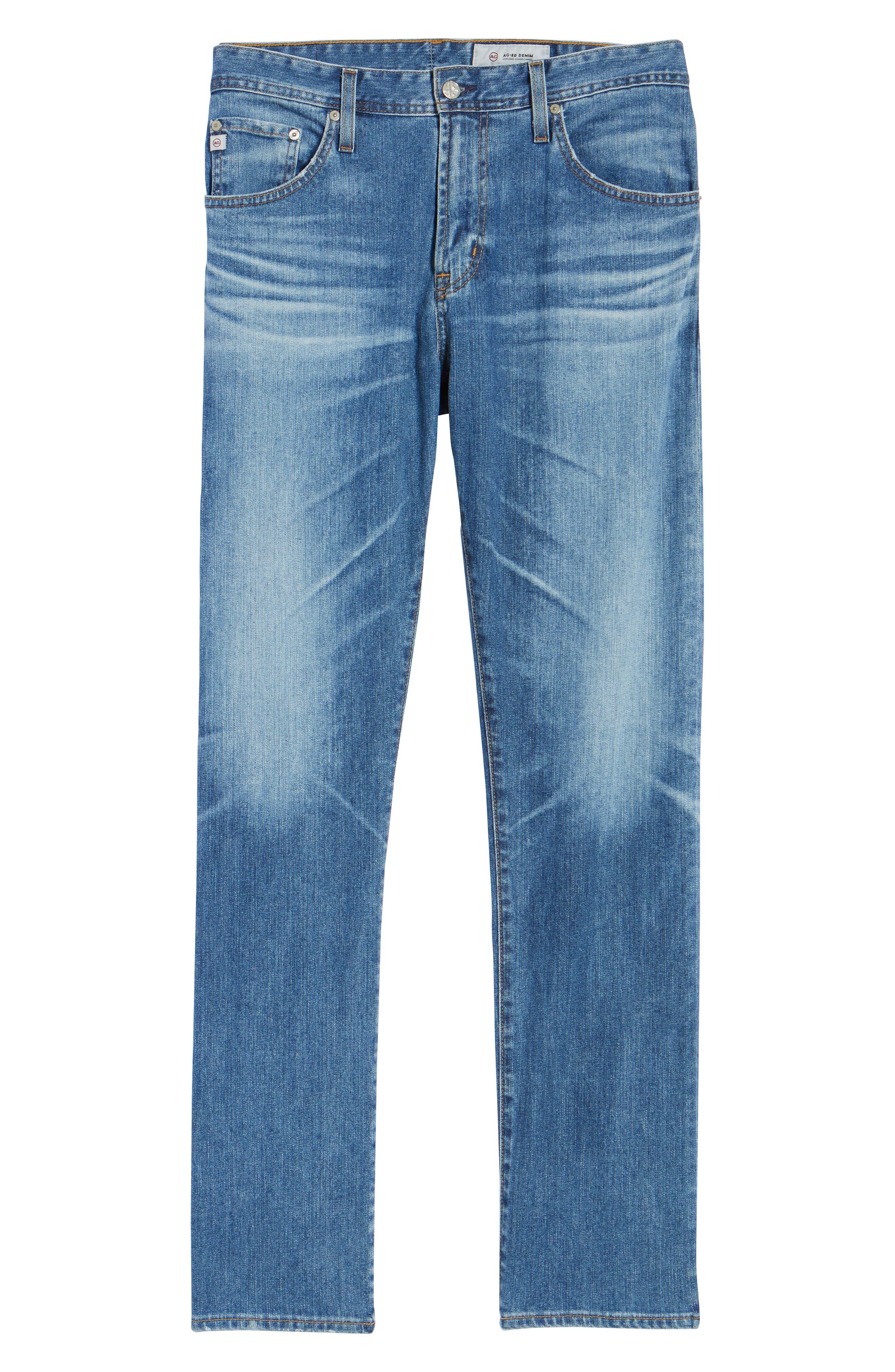 Ives Straight Leg Jeans,                             Alternate thumbnail 6, color,                             16 Years Broken Ground