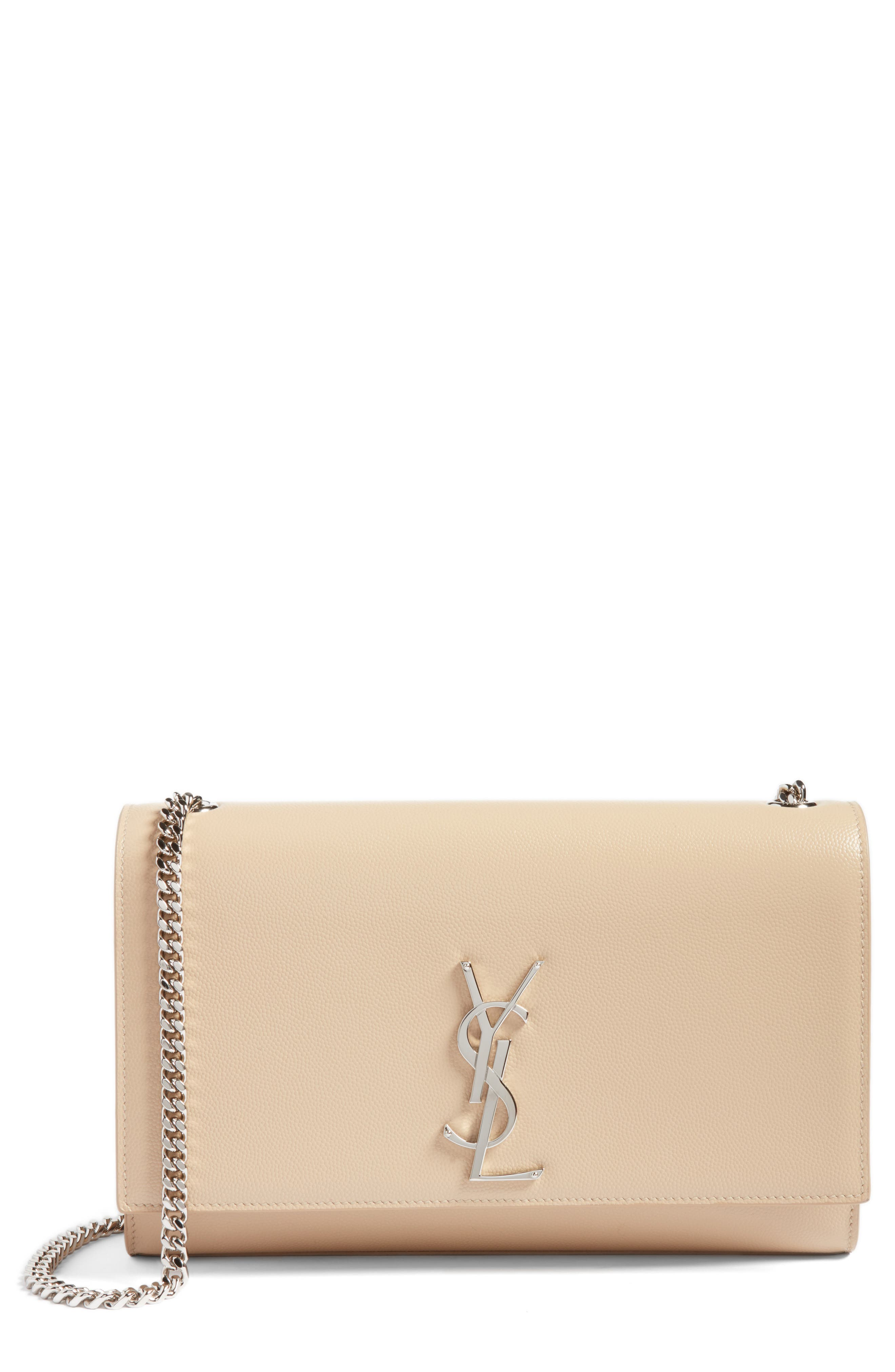 Saint Laurent Medium Kate Calfskin Leather Wallet on a Chain