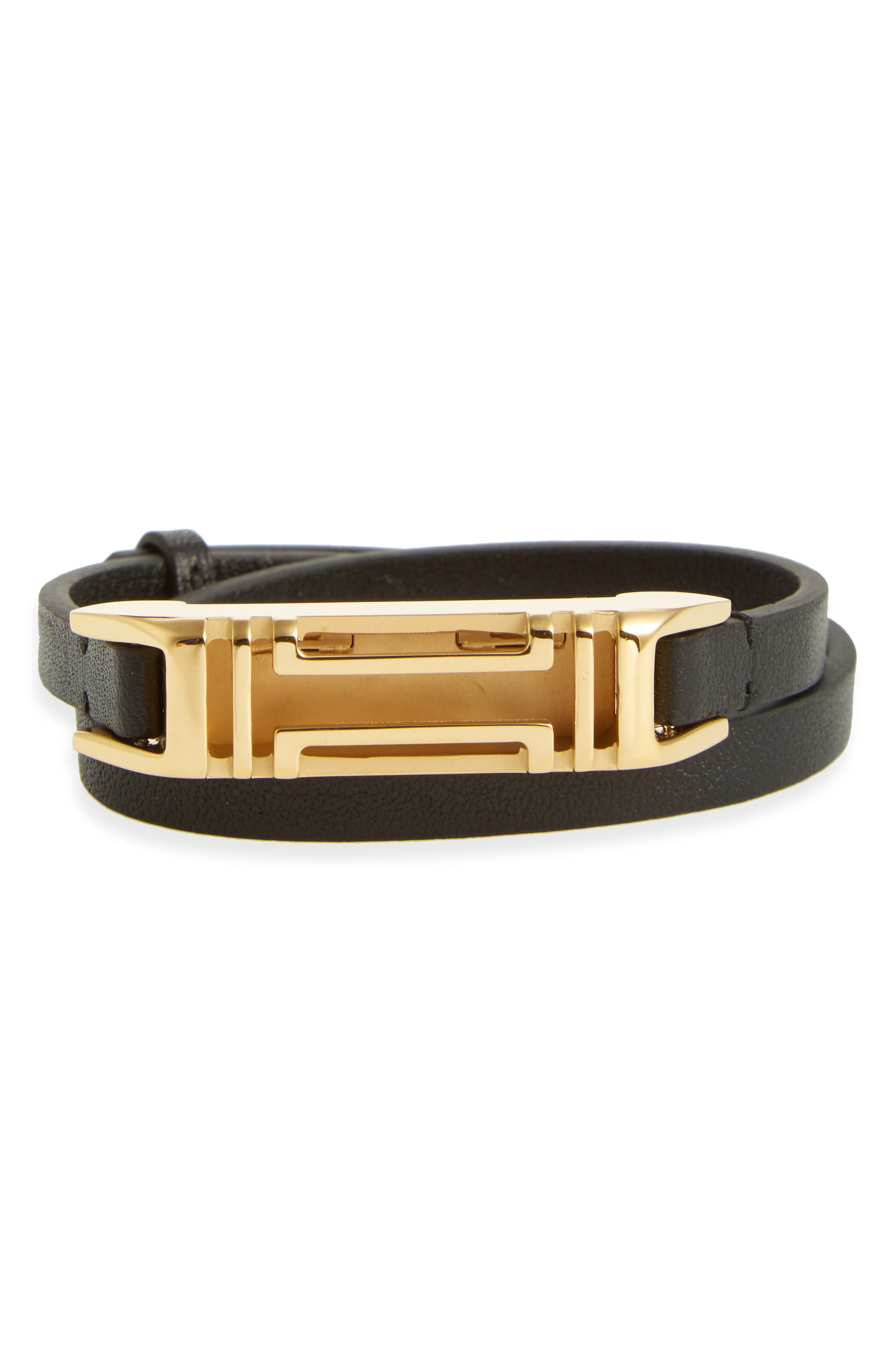 TORY BURCH for Fitbit<sup>®</sup> Leather Wrap Bracelet