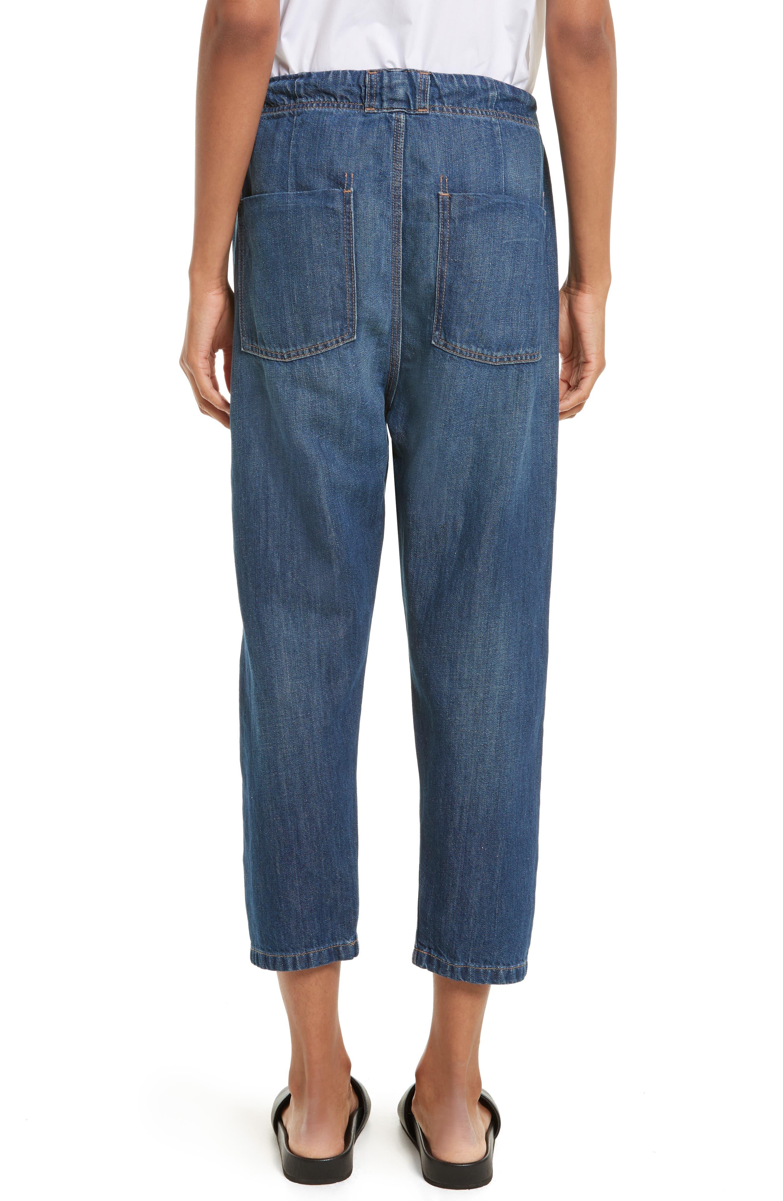 Alternate Image 2  - Vince Cotton & Linen Denim Drawstring Workwear Trousers