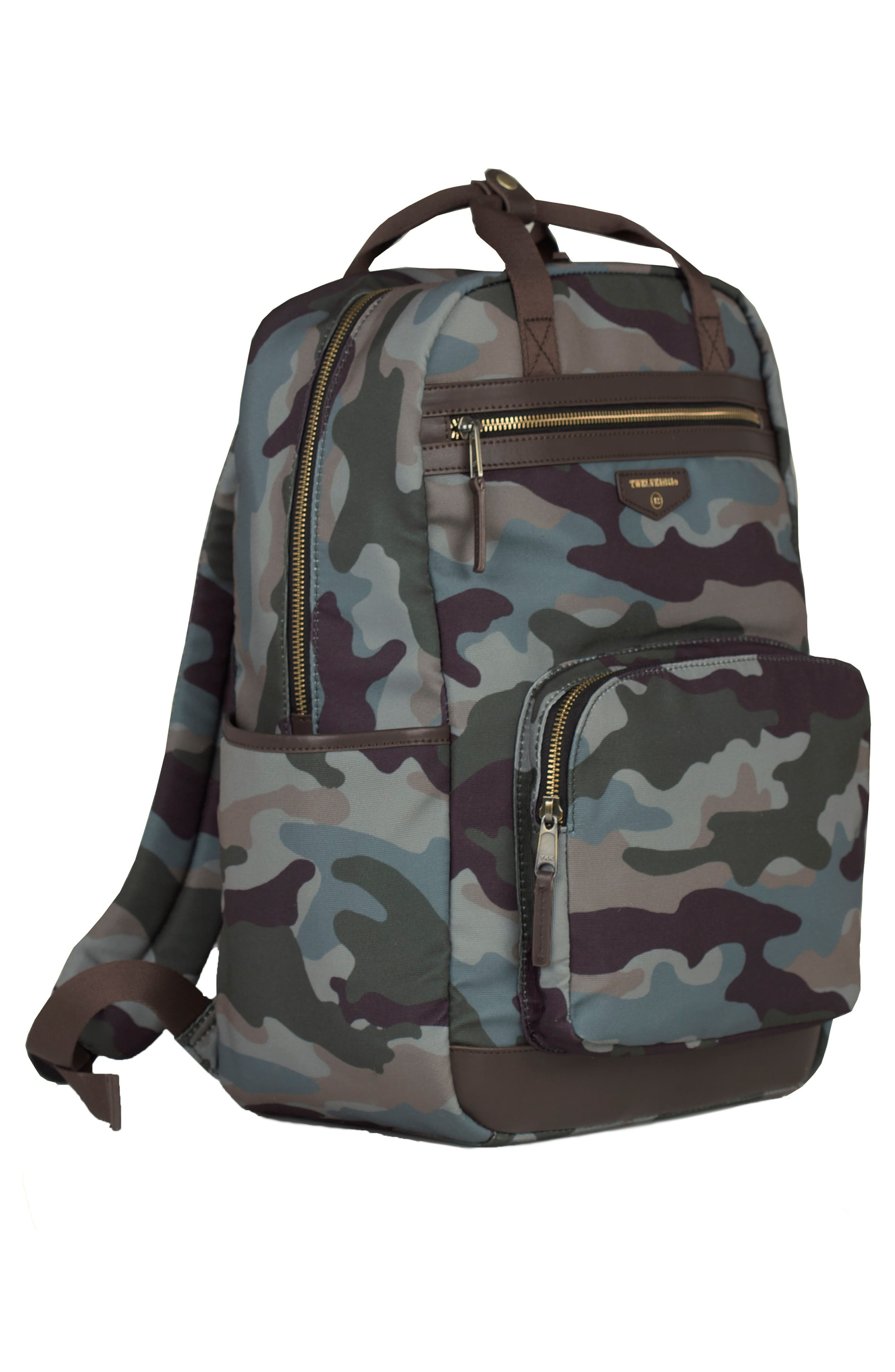 'Courage' Unisex Backpack Diaper Bag,                             Alternate thumbnail 3, color,                             Camouflage Print