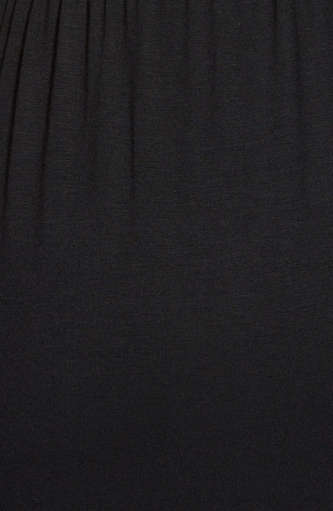 Alternate Image 3  - Loveappella Cap Sleeve Faux Wrap Jersey Maxi Dress (Regular & Petite)