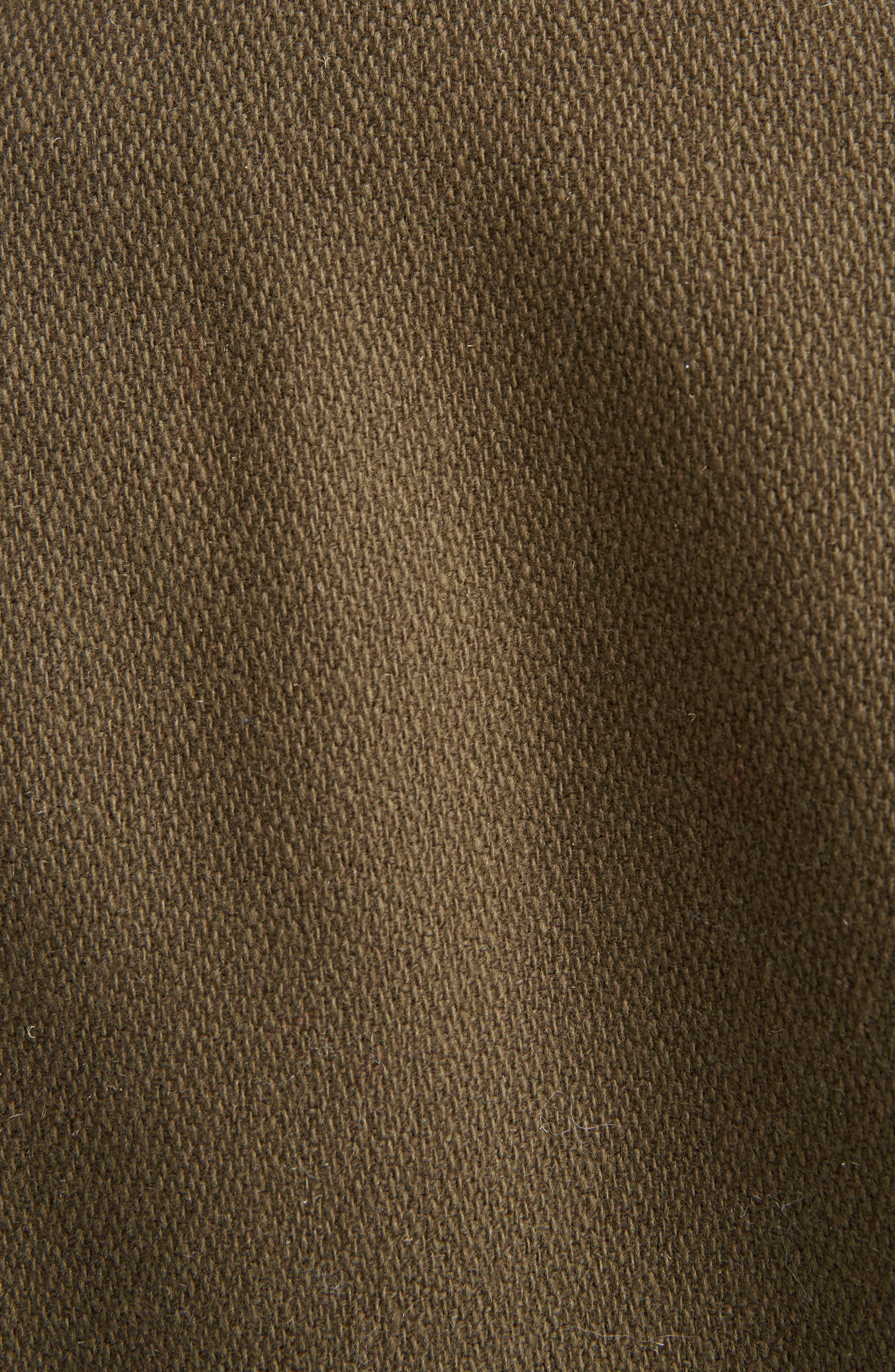 Alternate Image 3  - Saint Laurent Leather Trim Classic Teddy Jacket