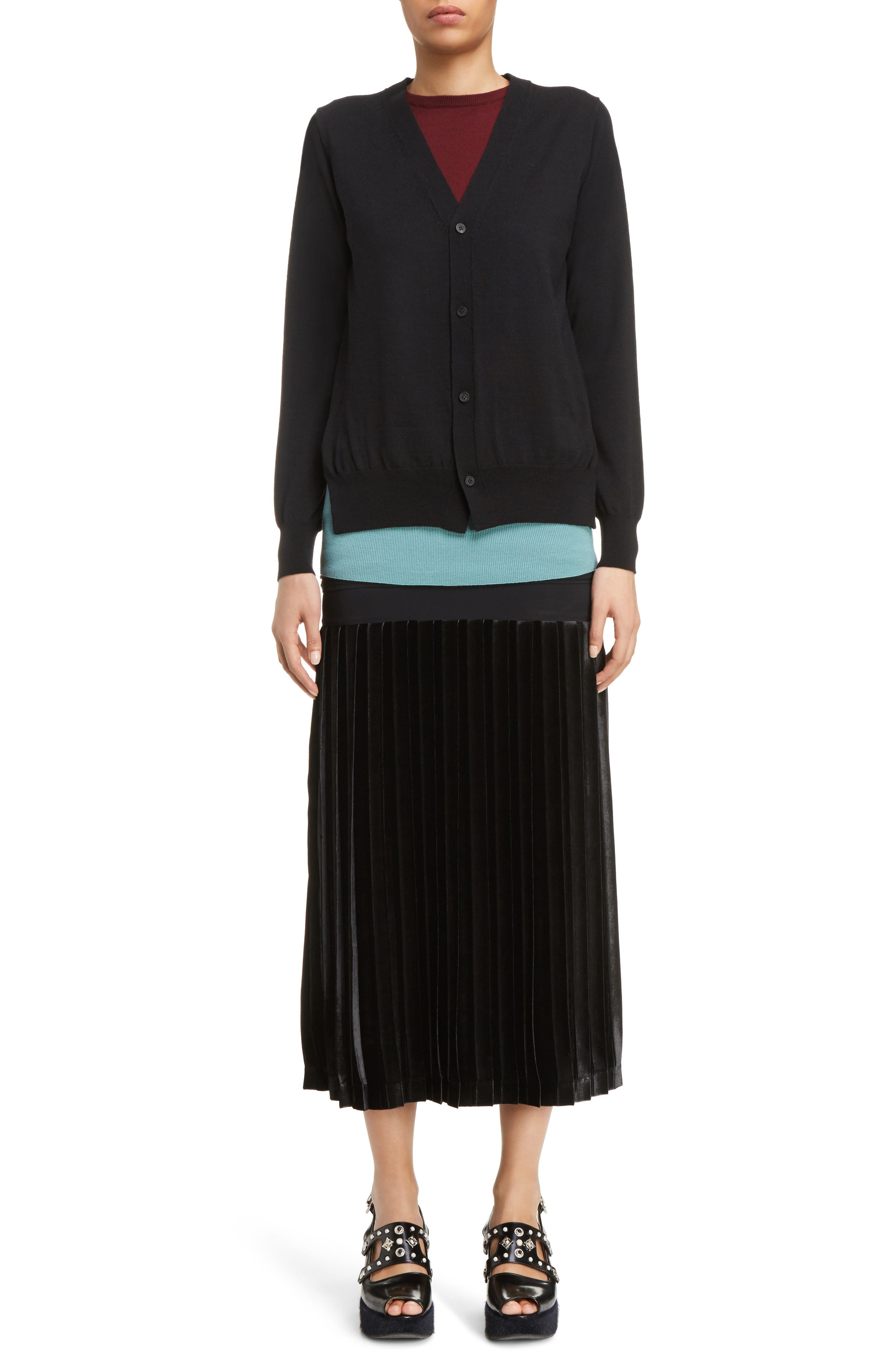 Alternate Image 5  - Toga Velvet Skirt Tank Dress