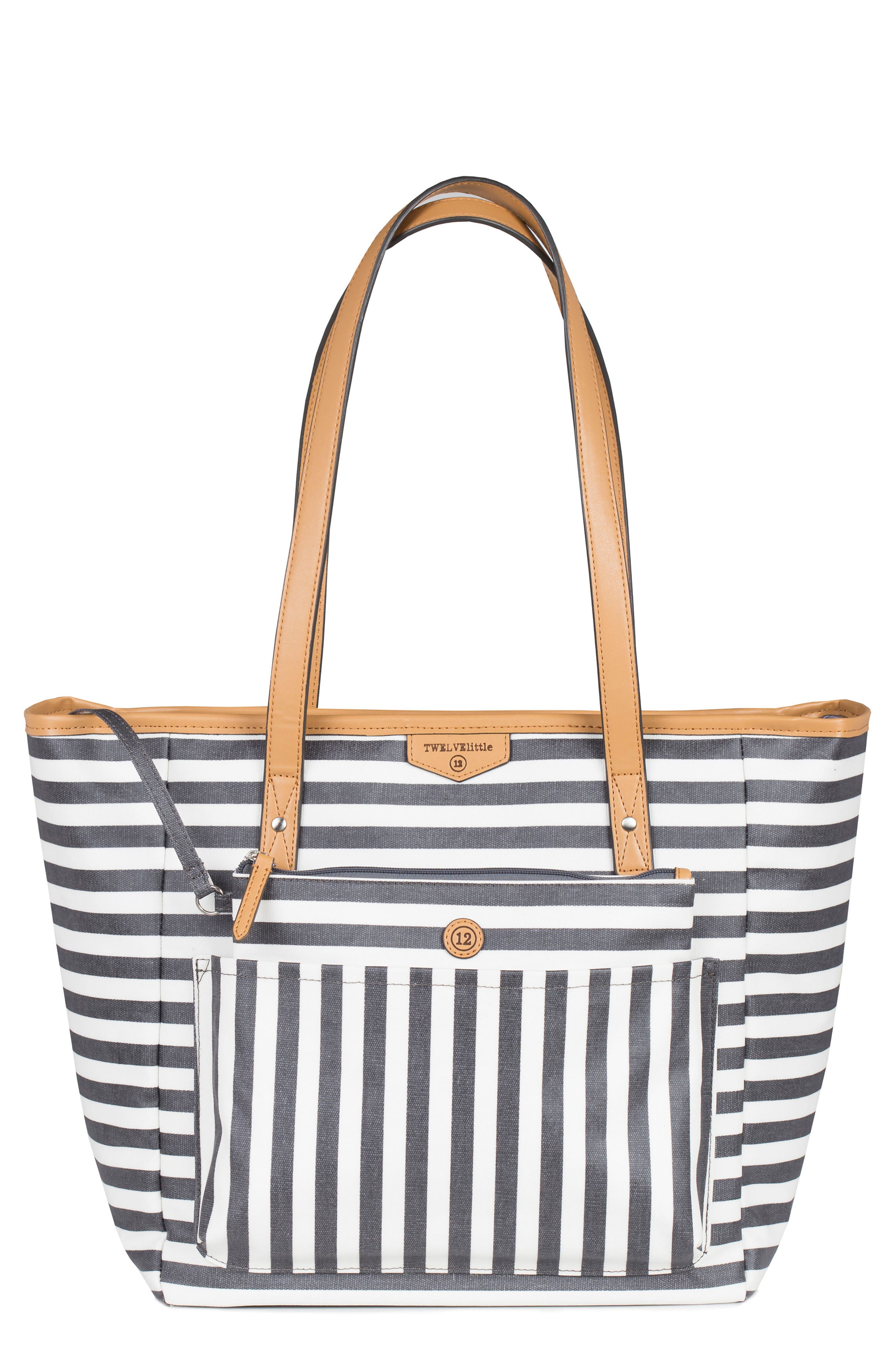 'Everyday' Diaper Tote,                             Main thumbnail 1, color,                             Grey Stripe Print