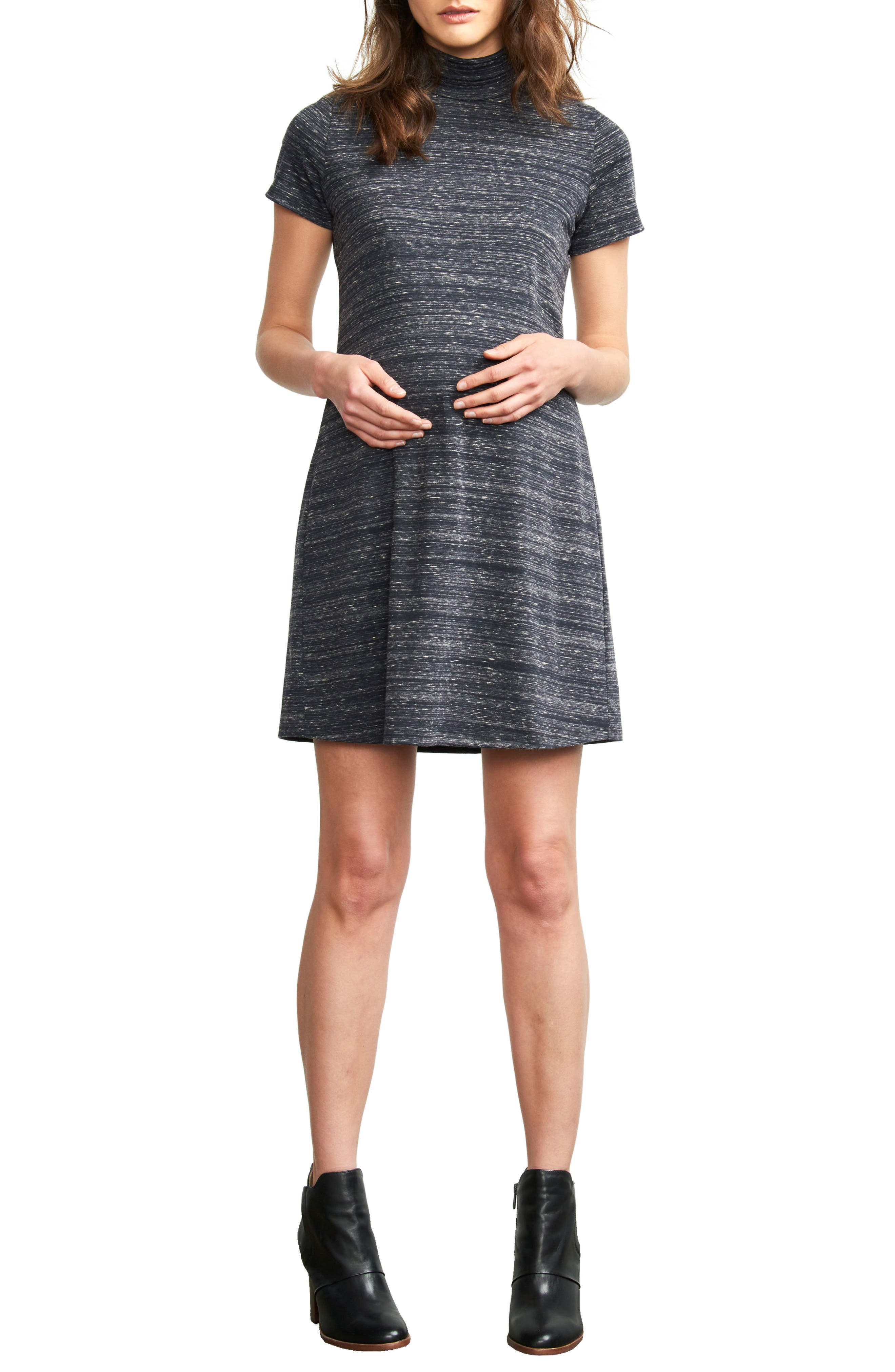 MATERNAL AMERICA Maternity Turtleneck Dress