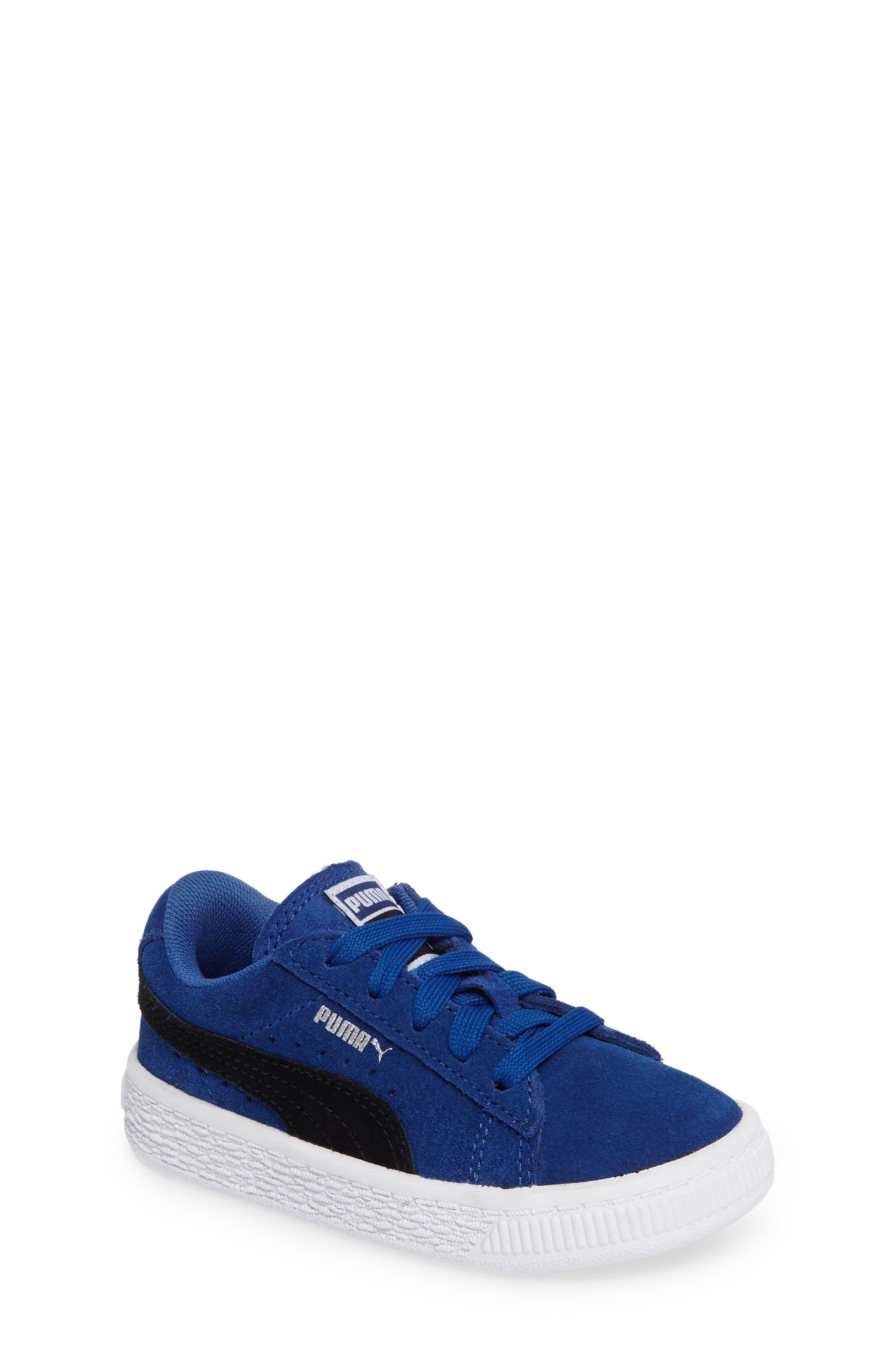 'Suede'Sneaker,                             Main thumbnail 1, color,                             Blue/ Black