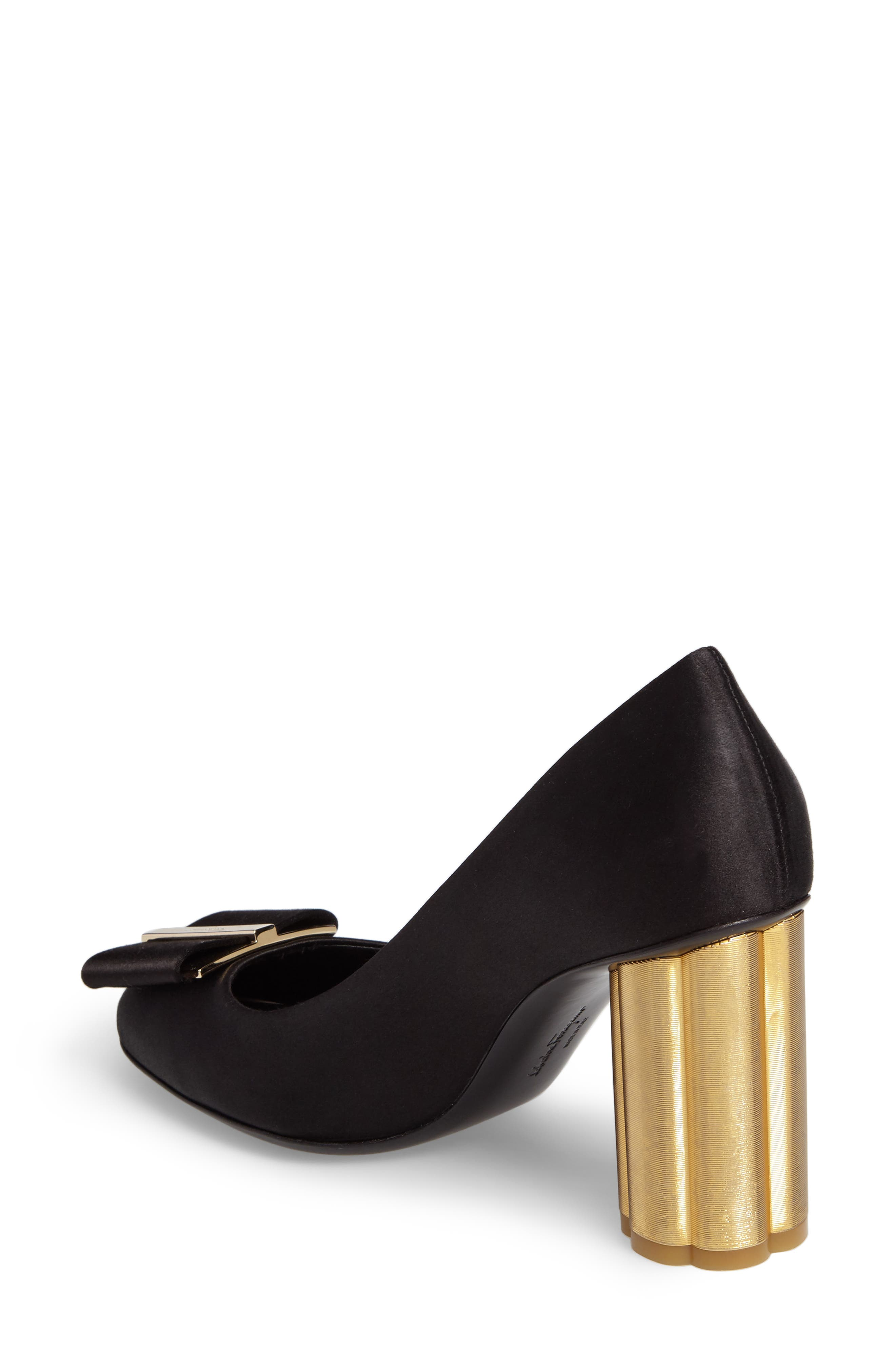 Alternate Image 2  - Salvatore Ferragamo Flower Heel Bow Pump (Women)