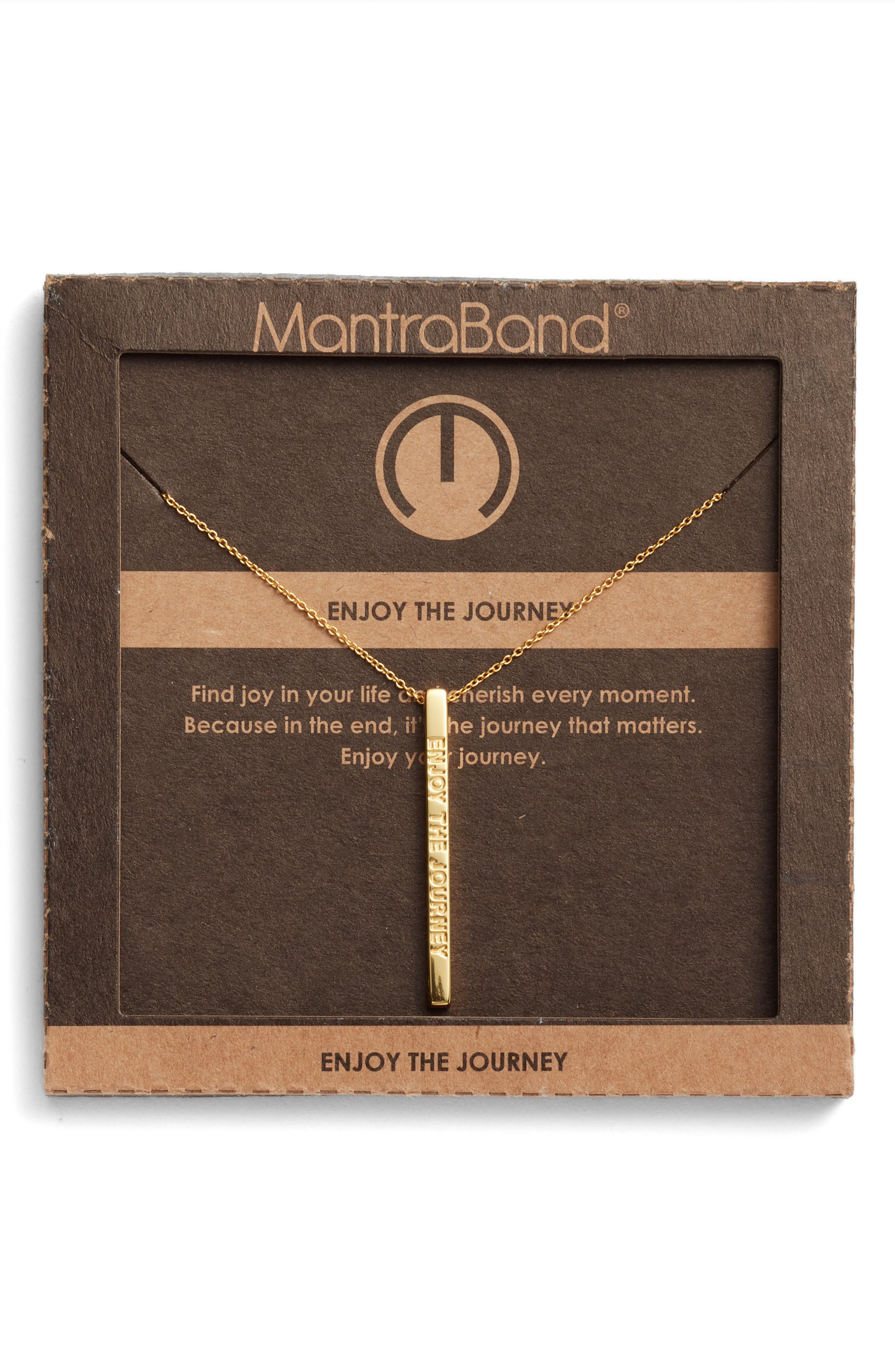 Enjoy the Journey Pendant Necklace,                             Alternate thumbnail 3, color,                             Gold