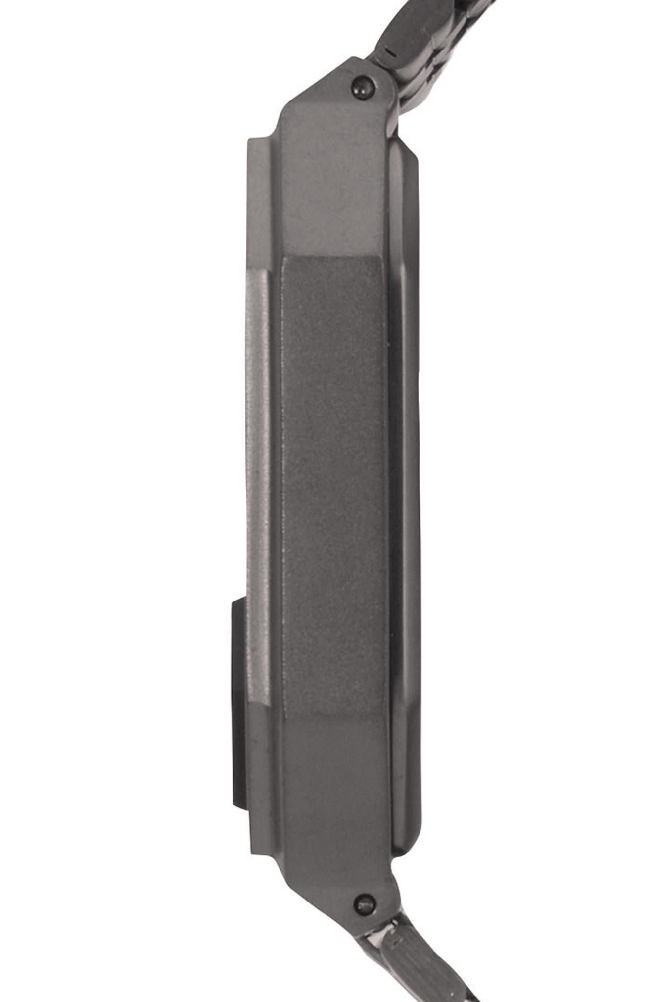 Rerun Digital Bracelet Watch, 39mm,                             Alternate thumbnail 3, color,                             Gunmetal