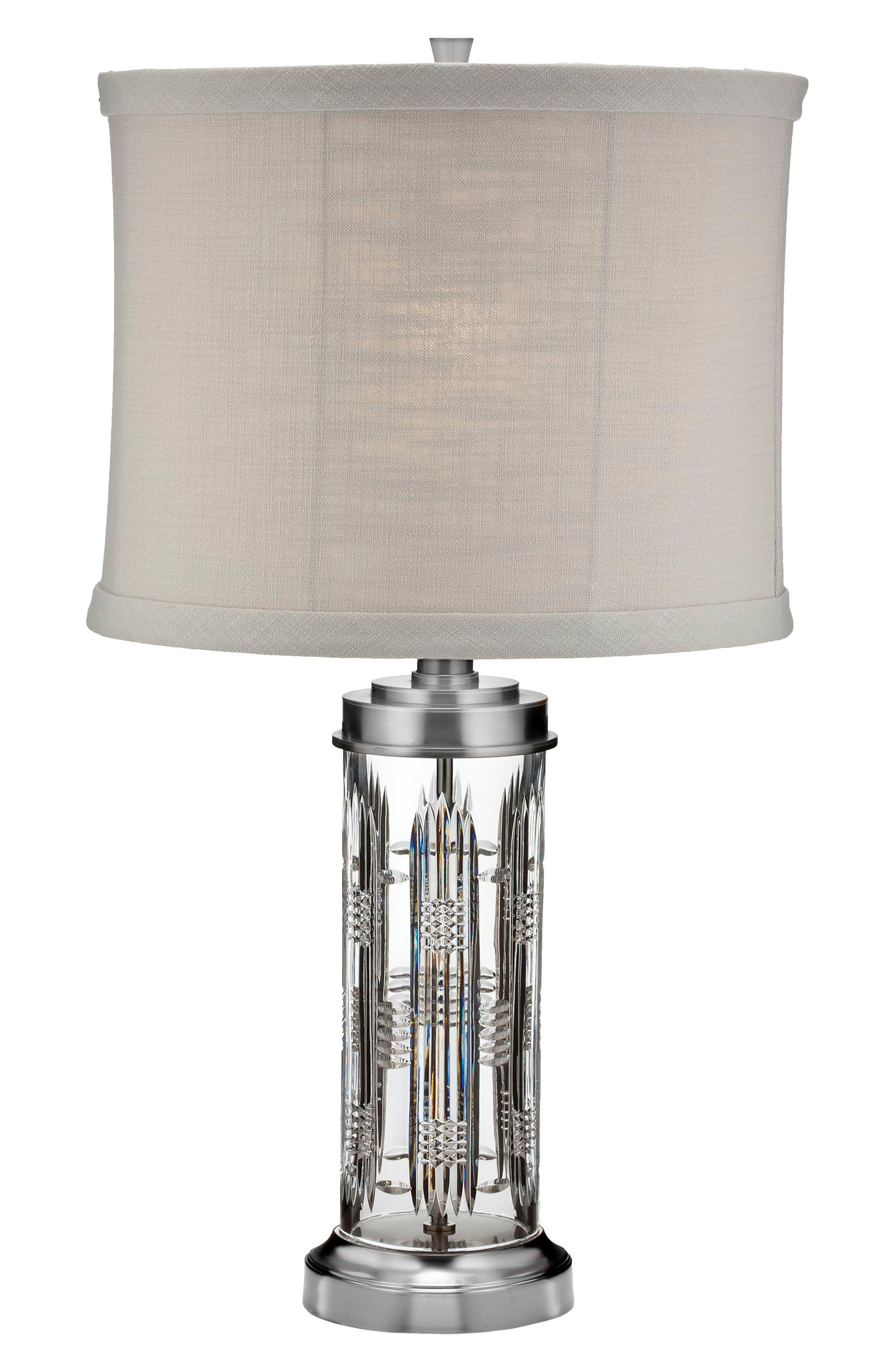 Main Image - Waterford Dungarvan Lead Crystal Chrome Table Lamp