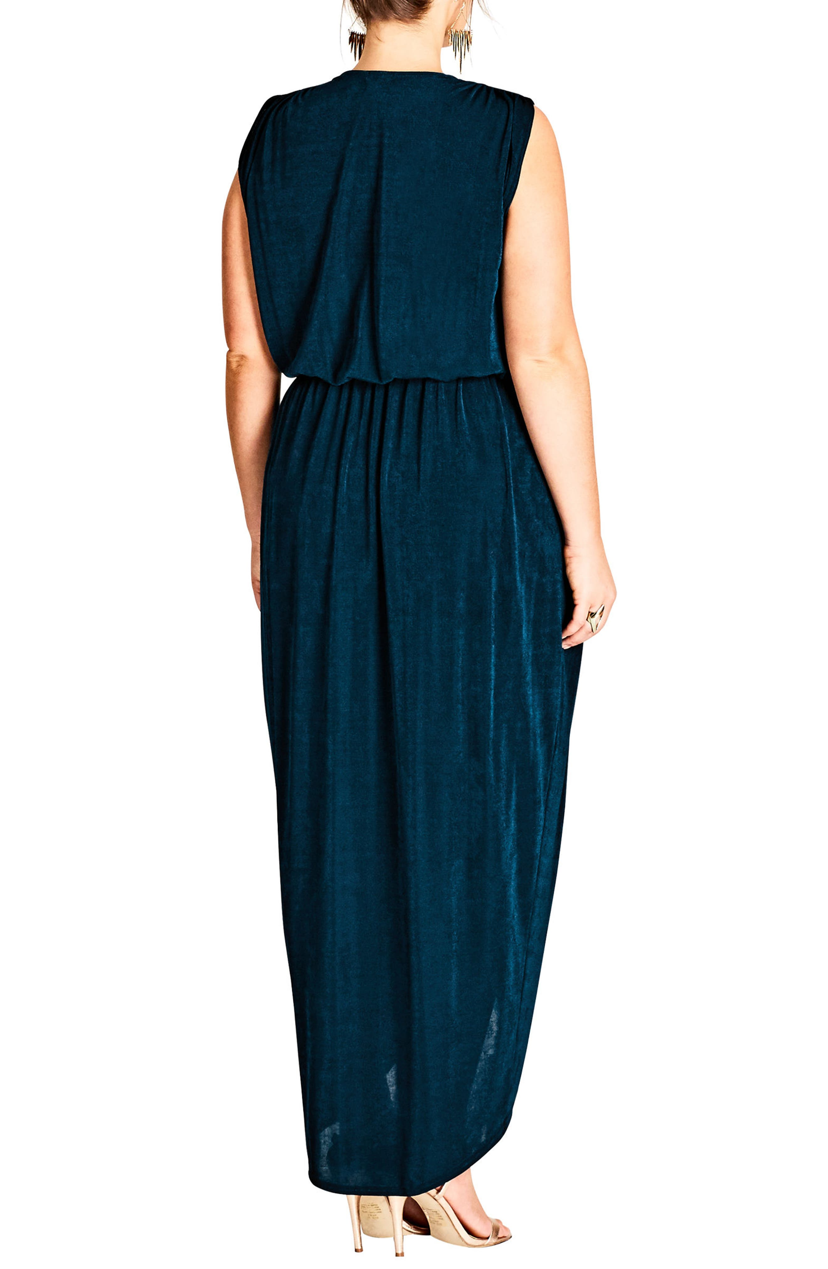 Alternate Image 2  - City Chic Sexy Slink Maxi Dress (Plus Size)