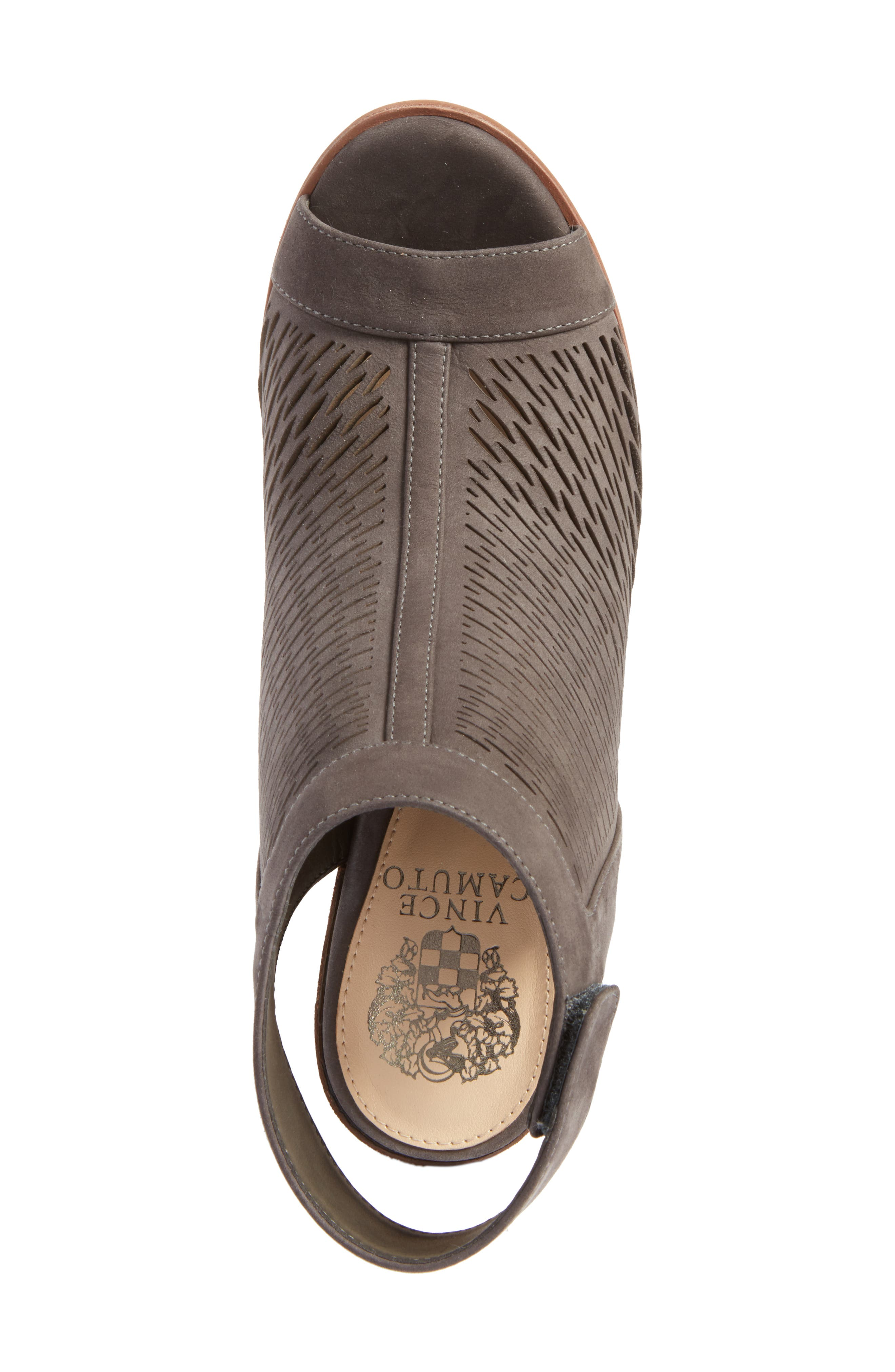 Alternate Image 5  - Vince Camuto 'Lavette' Perforated Peep Toe Bootie (Women) (Nordstrom Exclusive)