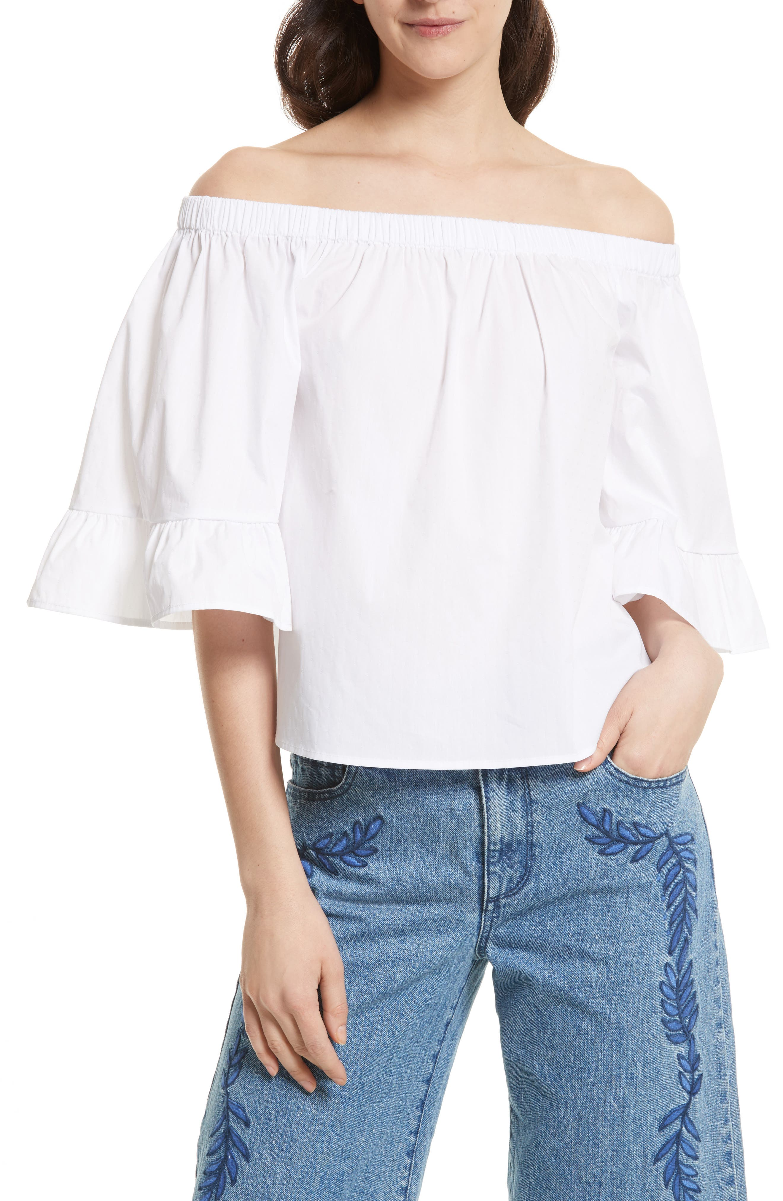 Rebecca Minkoff Faith Off the Shoulder Top