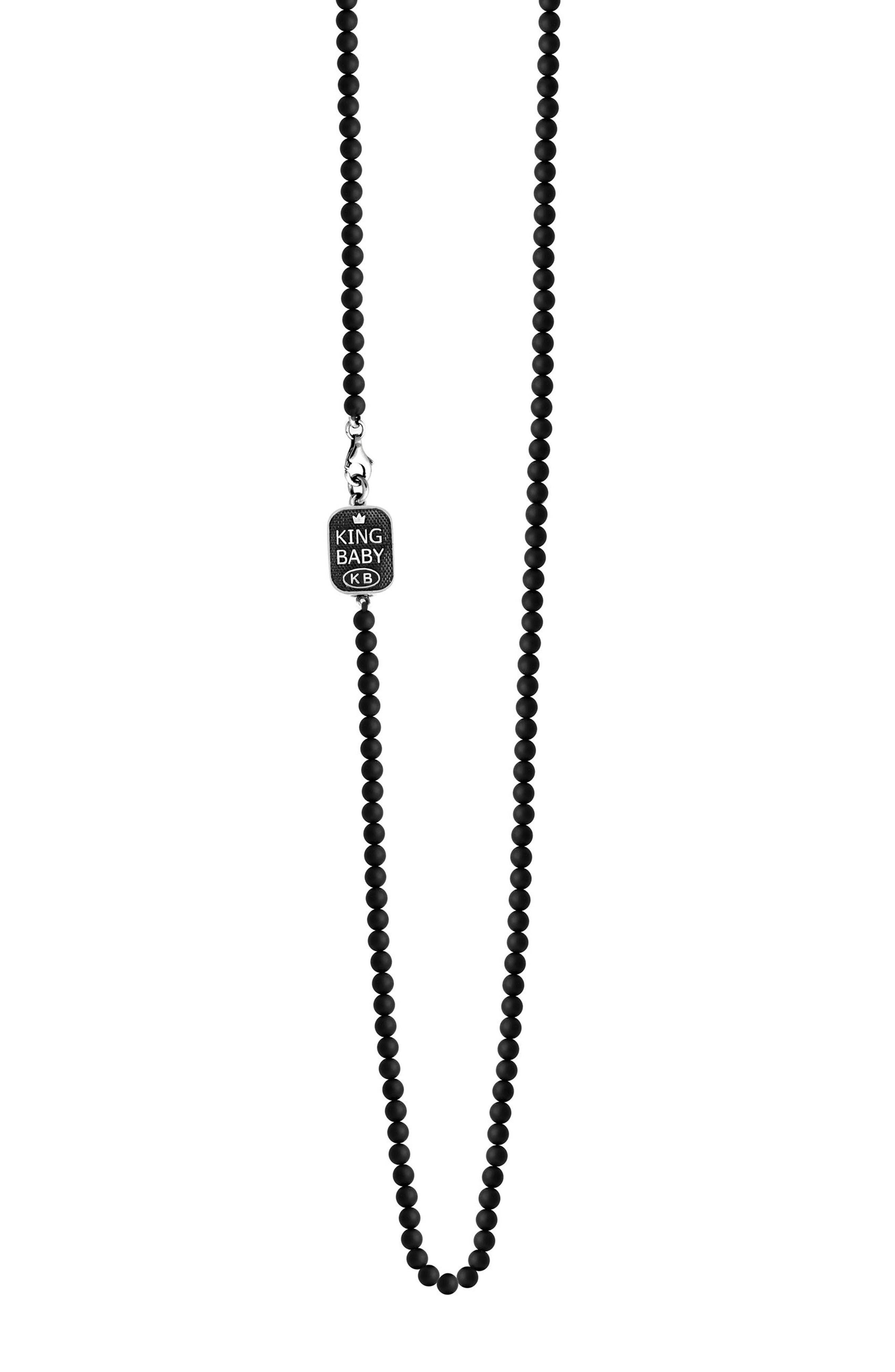 Main Image - King Baby Onyx Bead Necklace