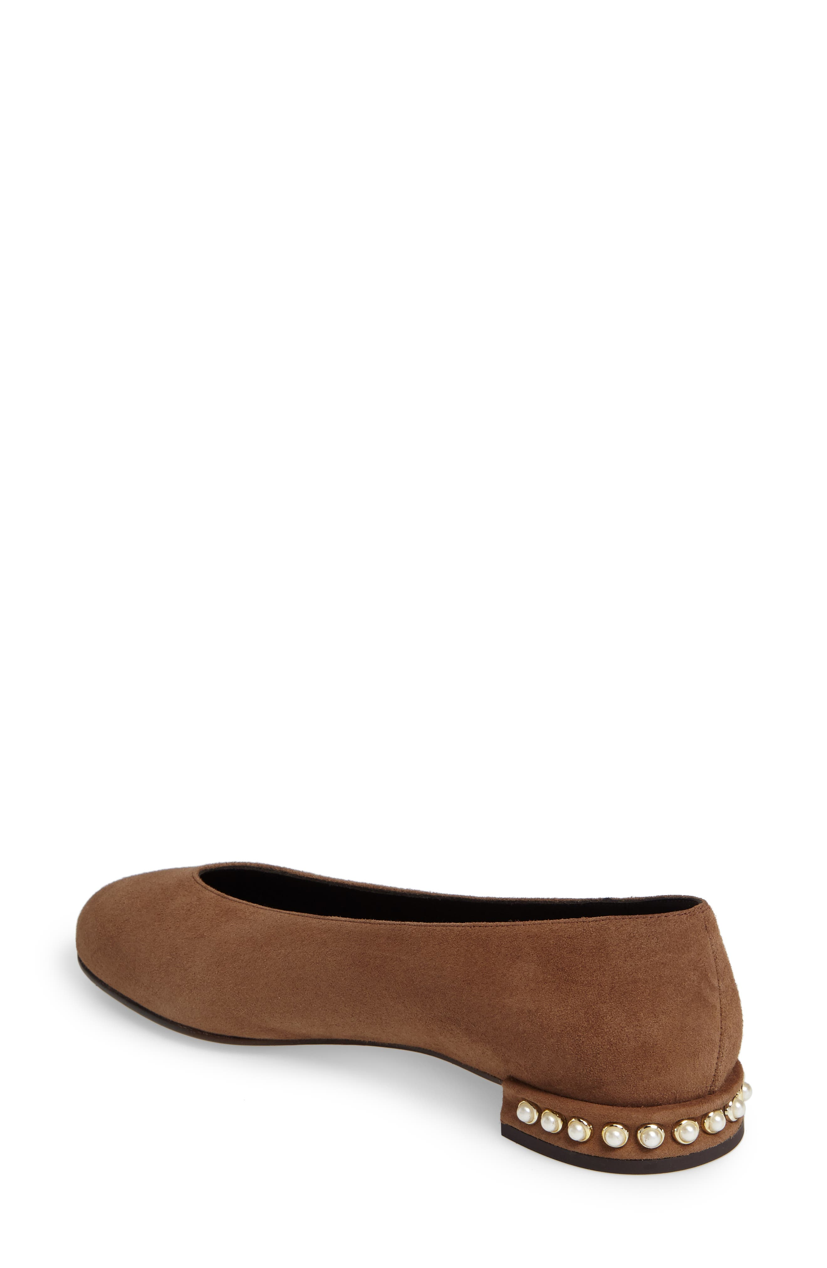Chicpearl Ballet Flat,                             Alternate thumbnail 2, color,                             Nutmeg Suede