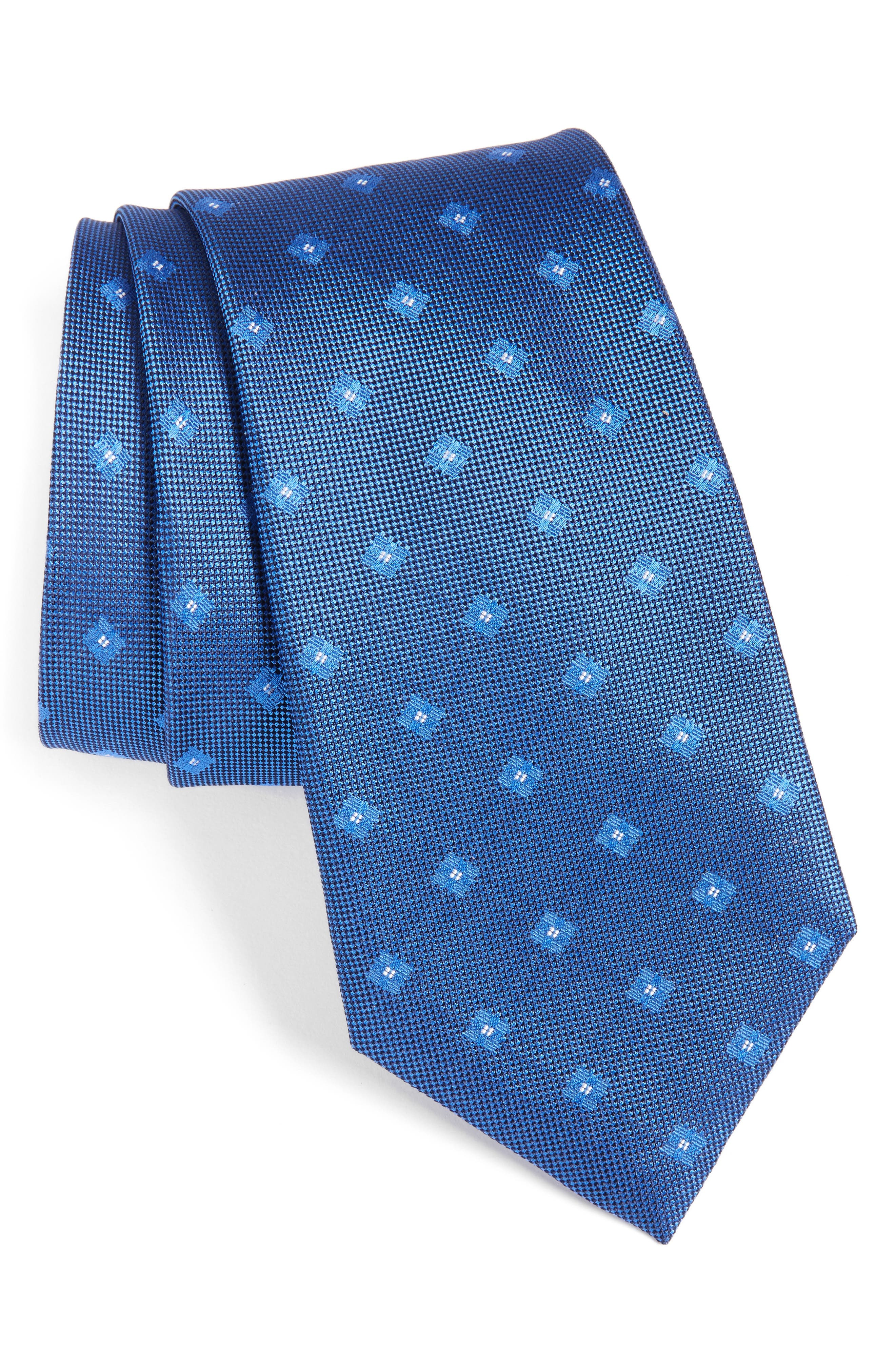 Calibrate Oxford Geometric Silk Tie