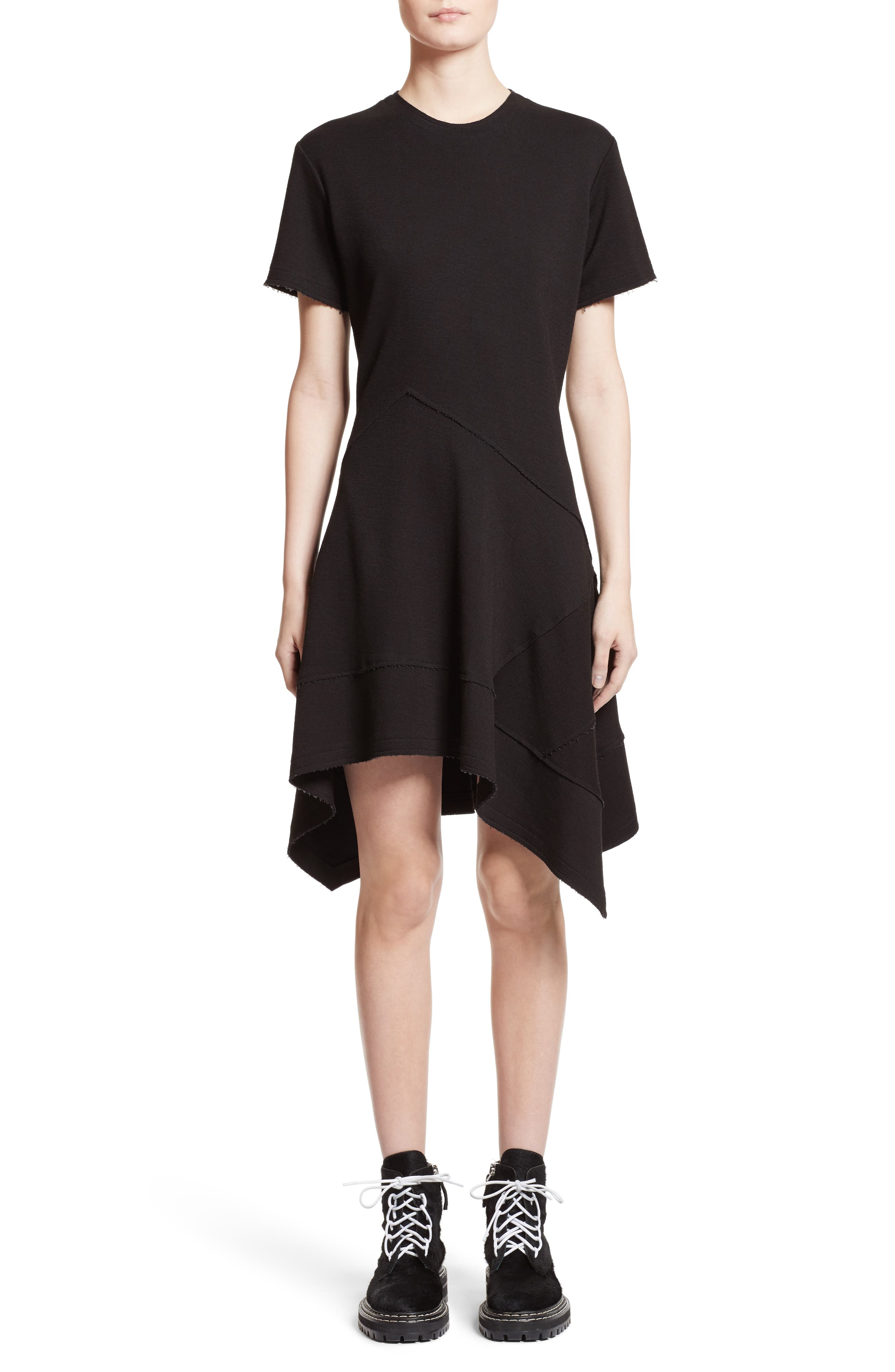 Proenza Schouler Asymmetrical Fit & Flare Dress