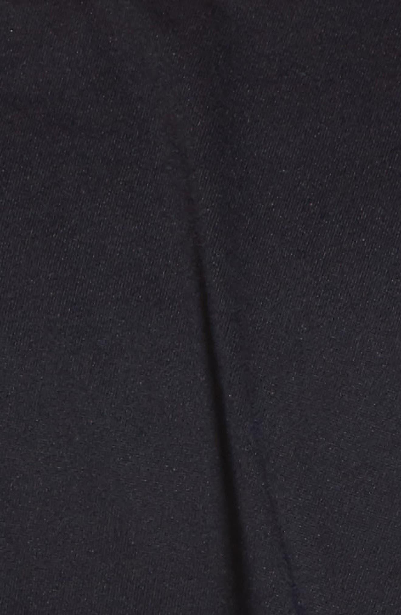 Off the Shoulder One-Piece Swimsuit,                             Alternate thumbnail 6, color,                             Black