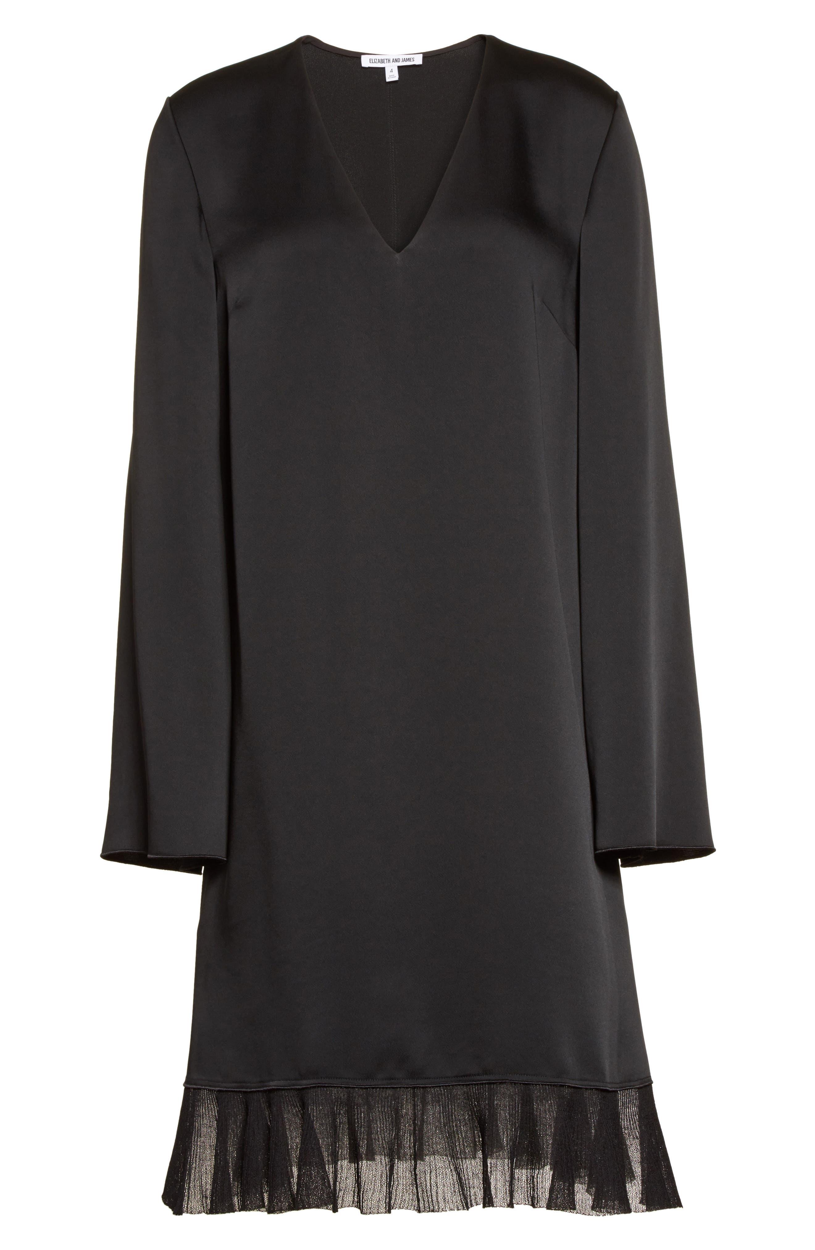 Heath Shift Dress,                             Alternate thumbnail 6, color,                             Black
