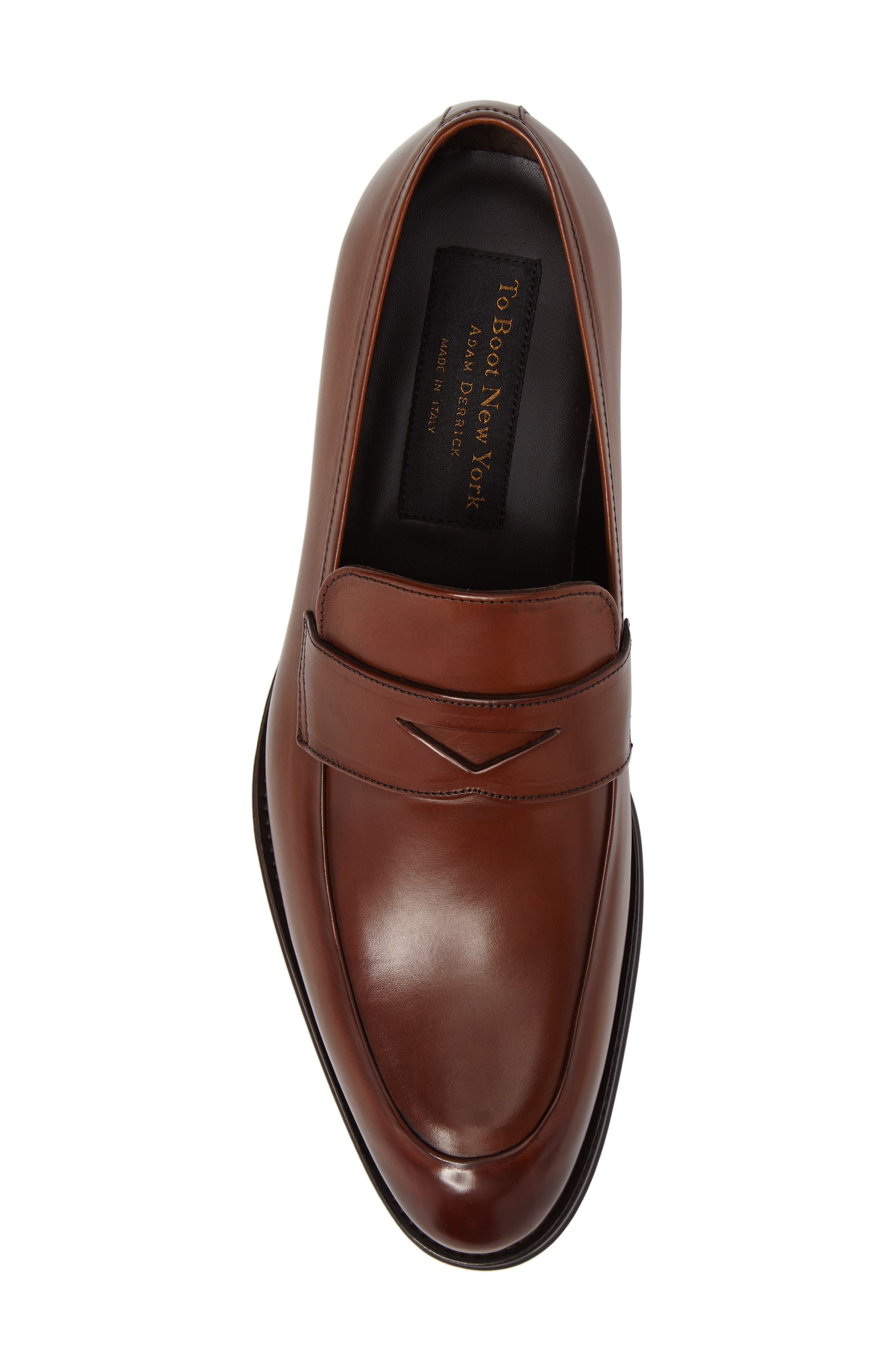 Francis Penny Loafer,                             Alternate thumbnail 5, color,                             Brown Leather