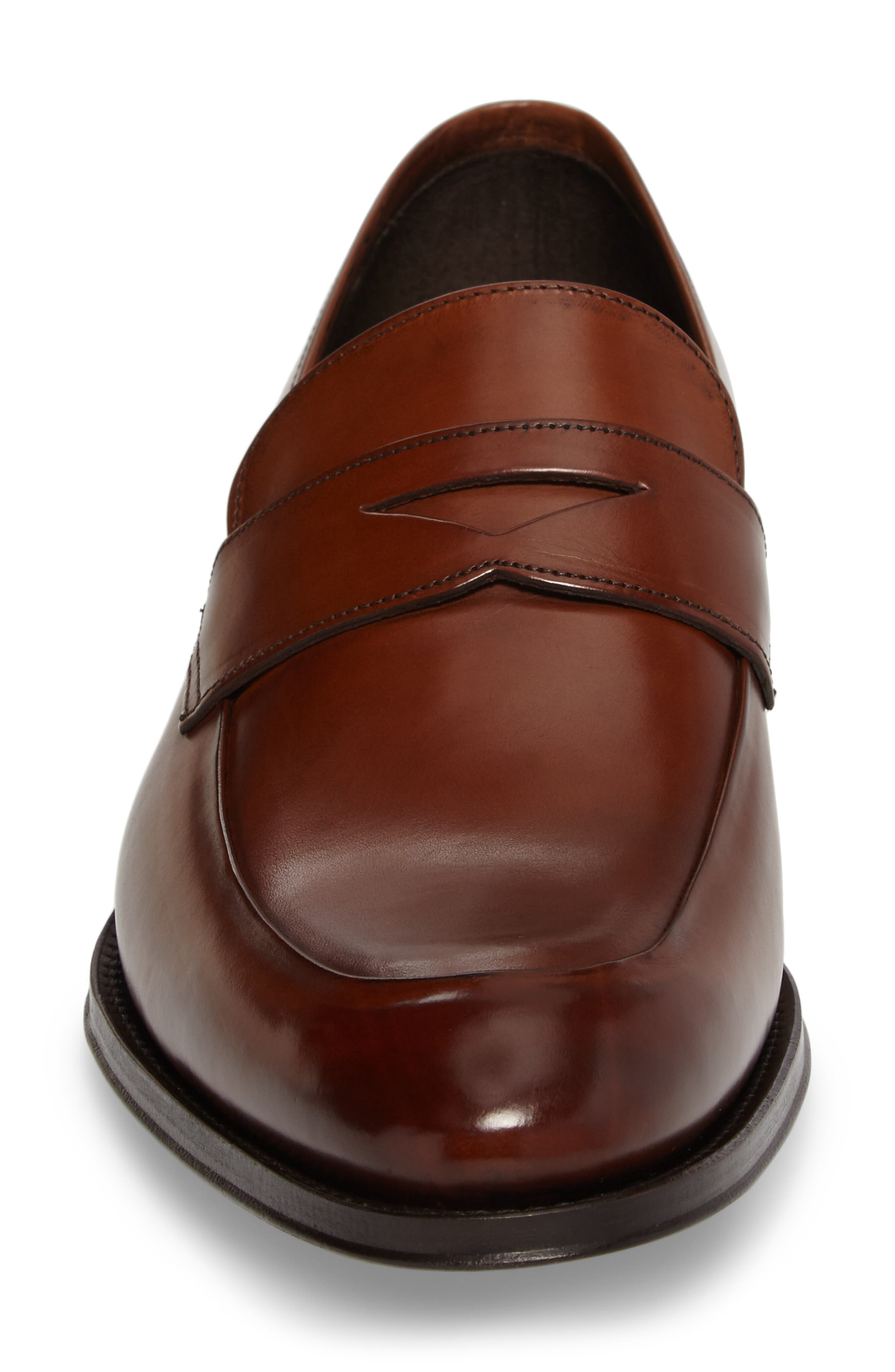 Francis Penny Loafer,                             Alternate thumbnail 4, color,                             Brown Leather