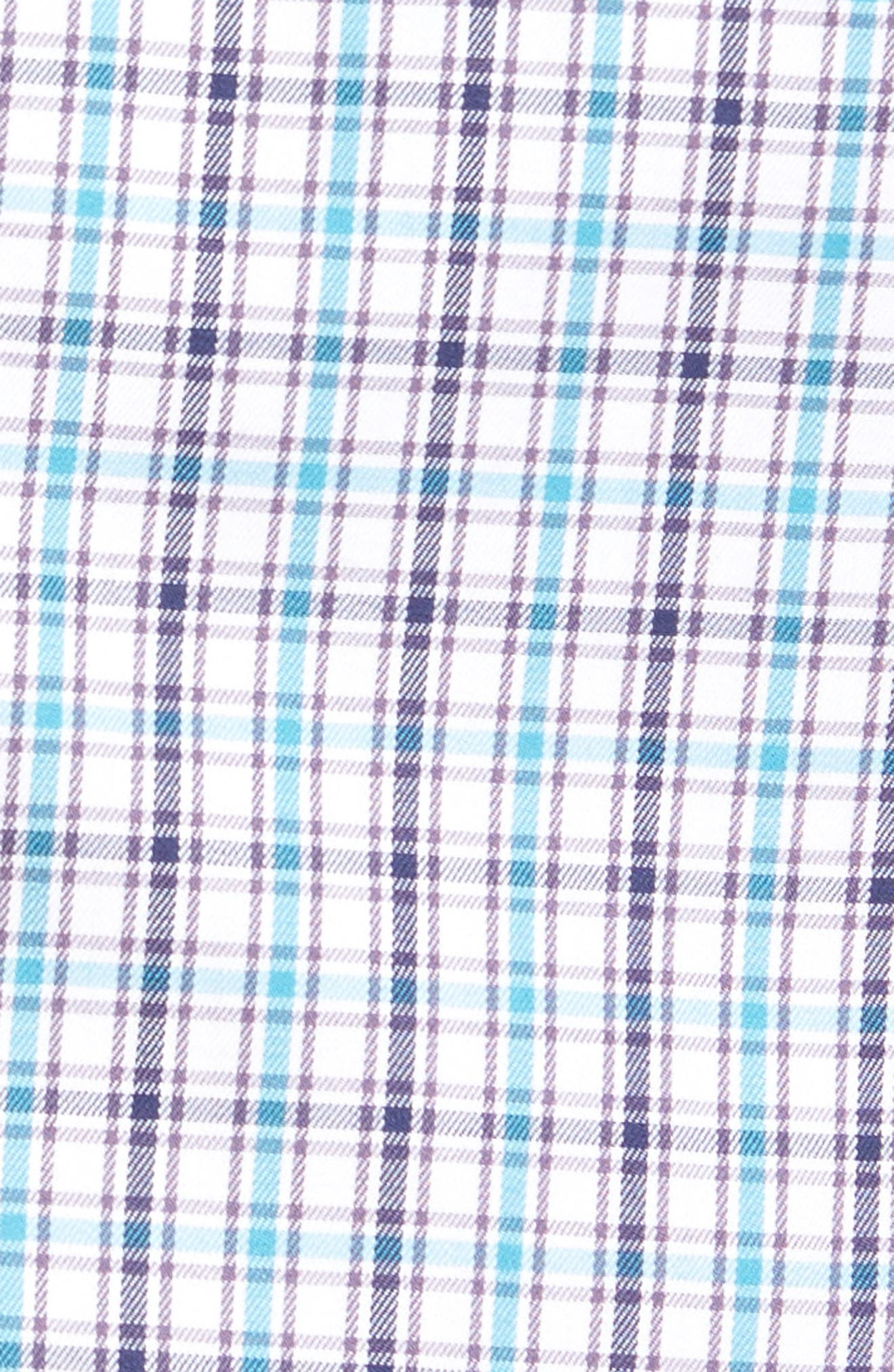 Regular Fit Channel Check Sport Shirt,                             Alternate thumbnail 5, color,                             Bogue Blue