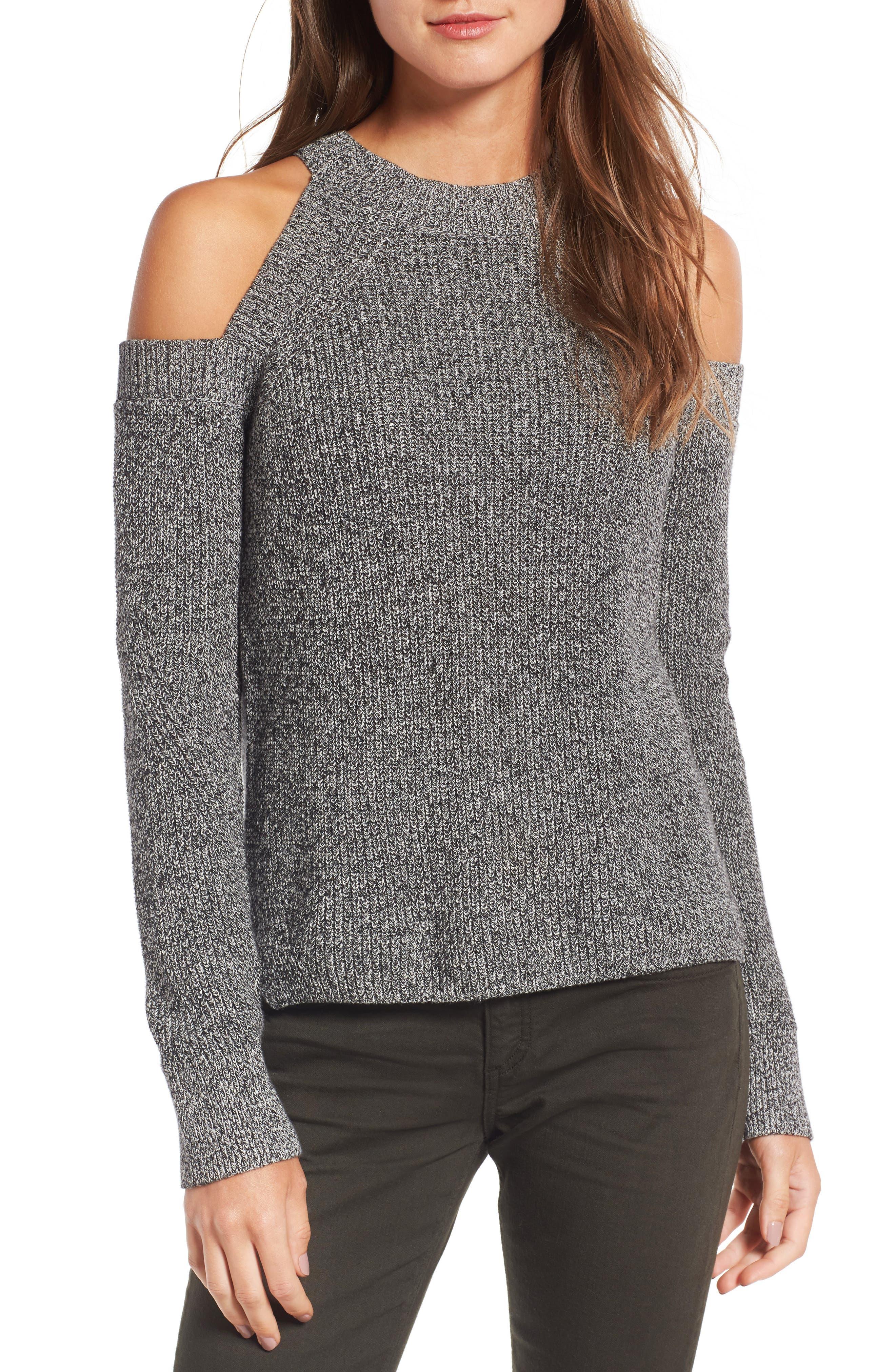 Alternate Image 1 Selected - rag & bone/JEAN Dana Cold Shoulder Sweater