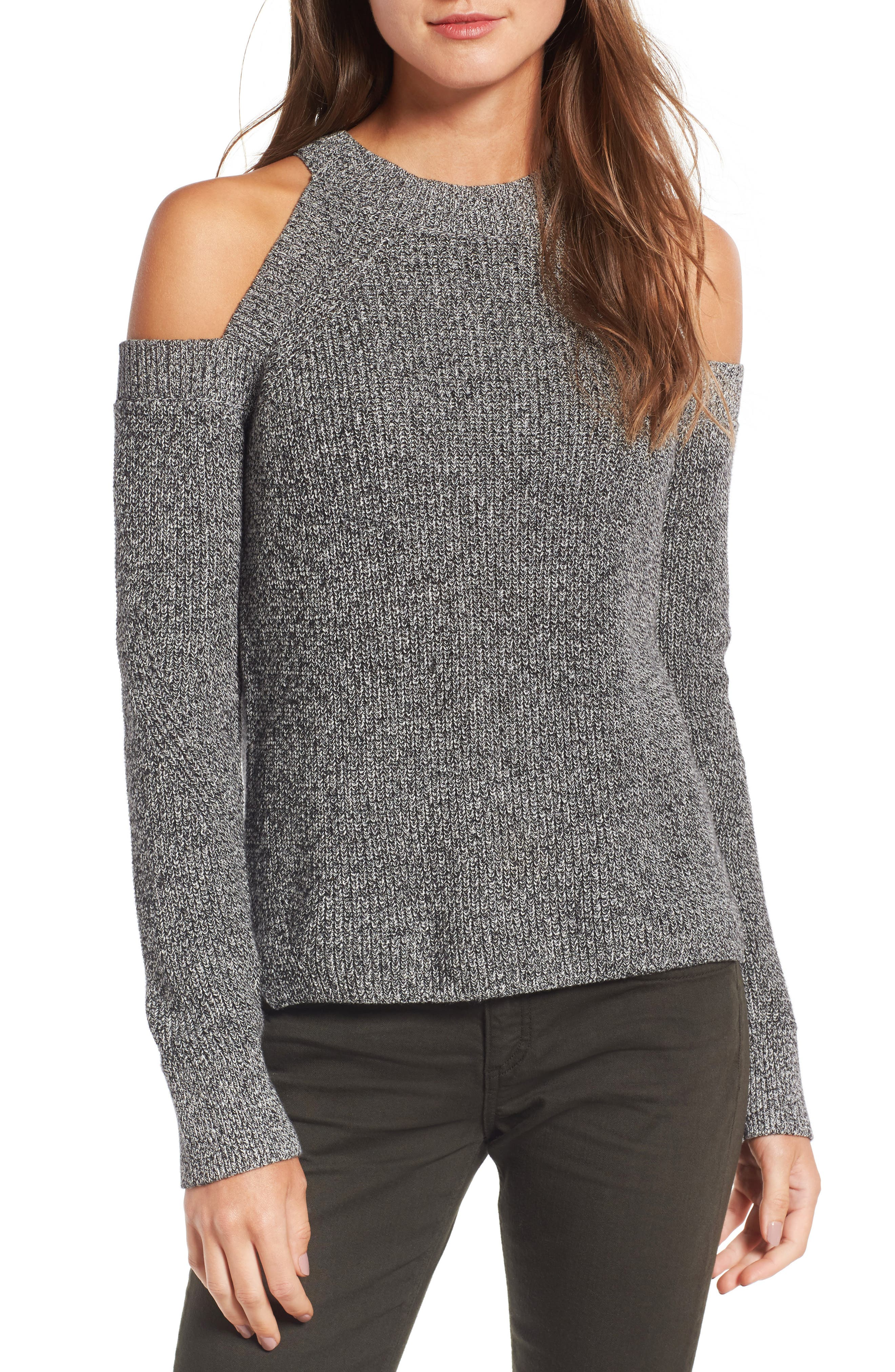 Main Image - rag & bone/JEAN Dana Cold Shoulder Sweater