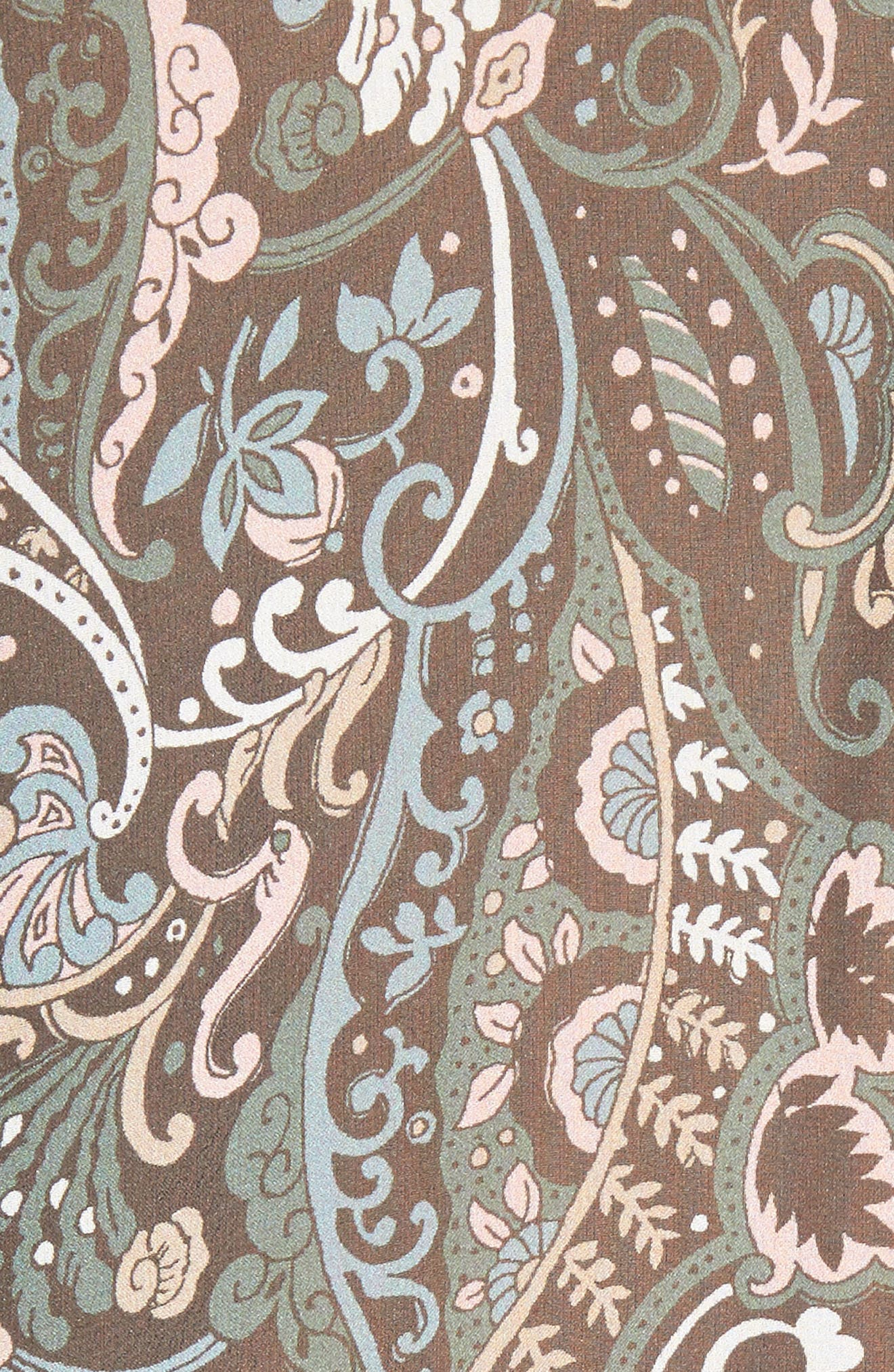 Gayle Paisley Print Silk Blouse,                             Alternate thumbnail 5, color,                             Nude/ Blue/ Green Multi