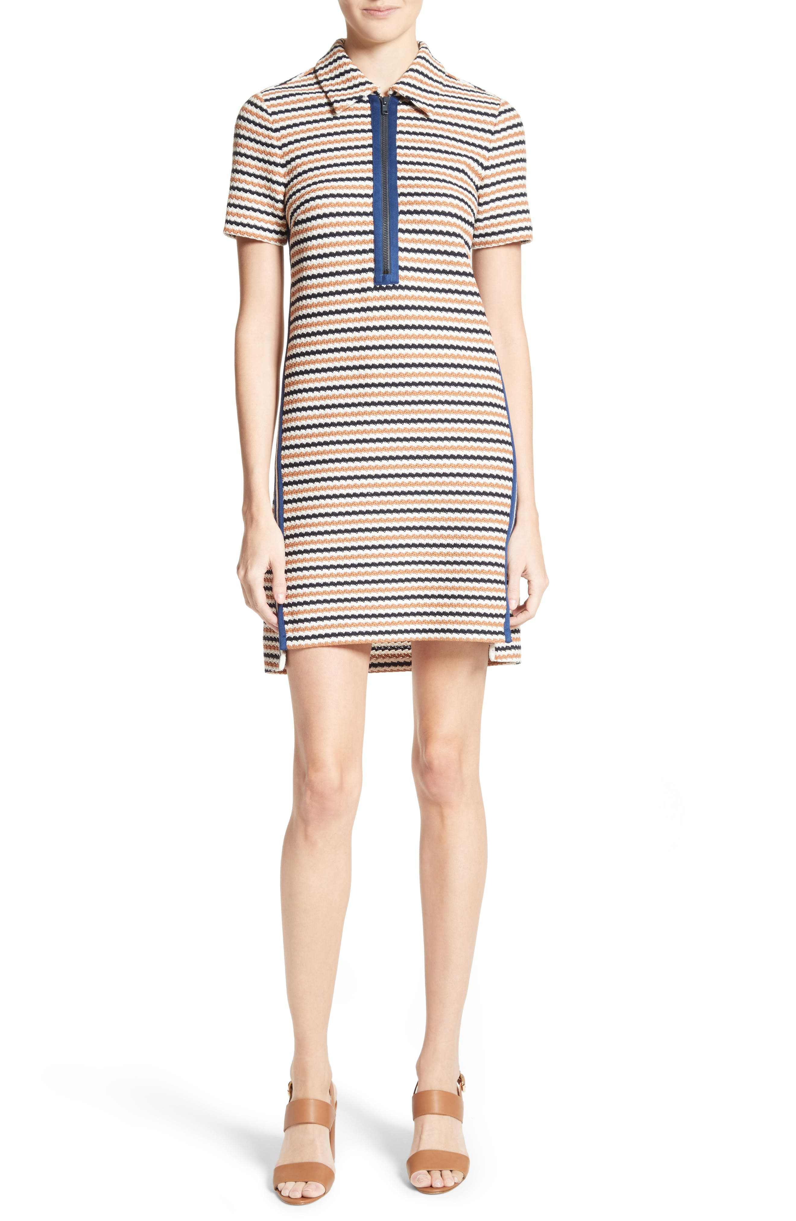 Shay Polo Dress,                             Main thumbnail 1, color,                             Navy/ Cream/ Golden Red