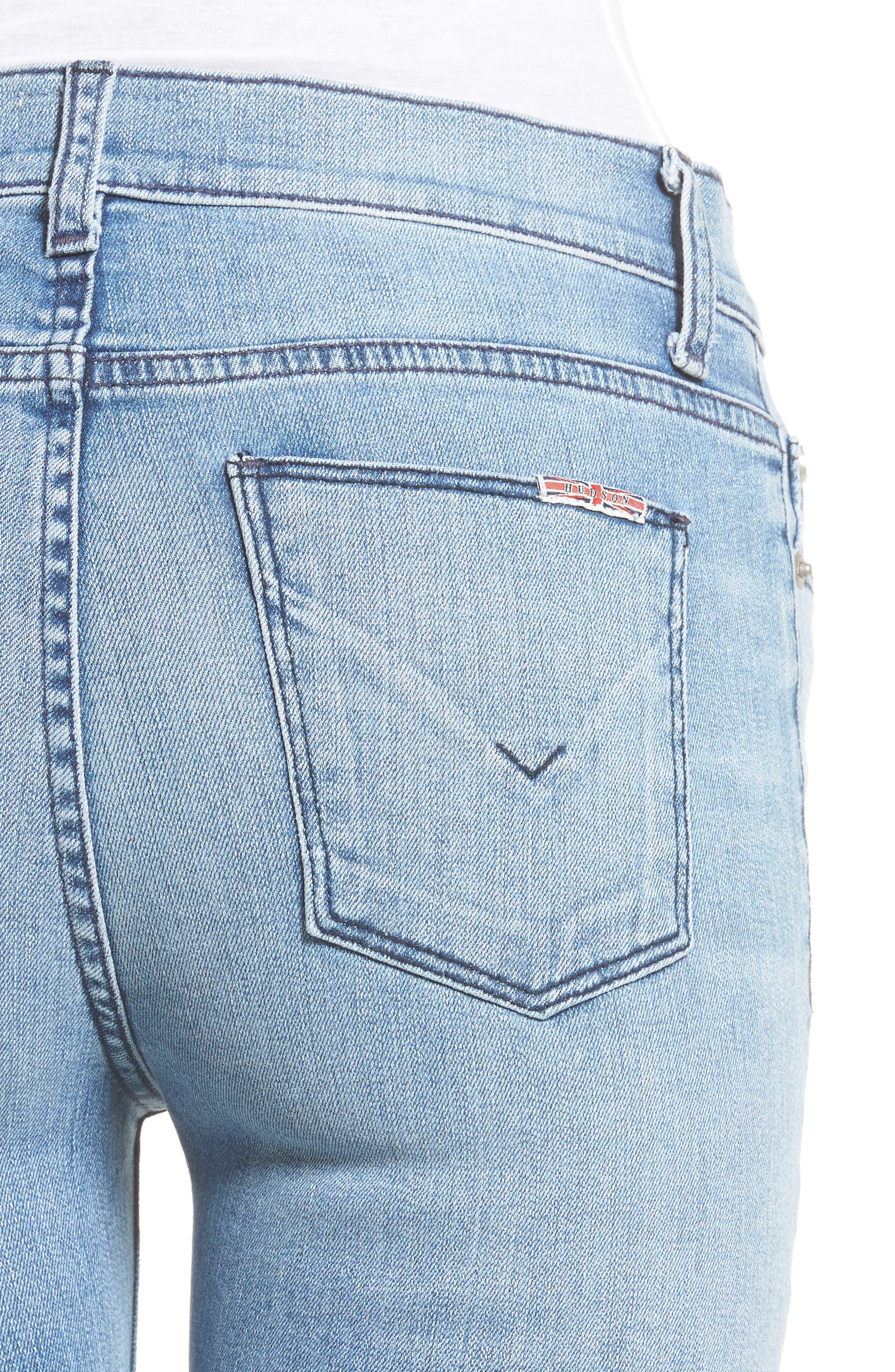 Alternate Image 4  - Hudson Jeans Ciara High Waist Skinny Jeans (Shotgun)