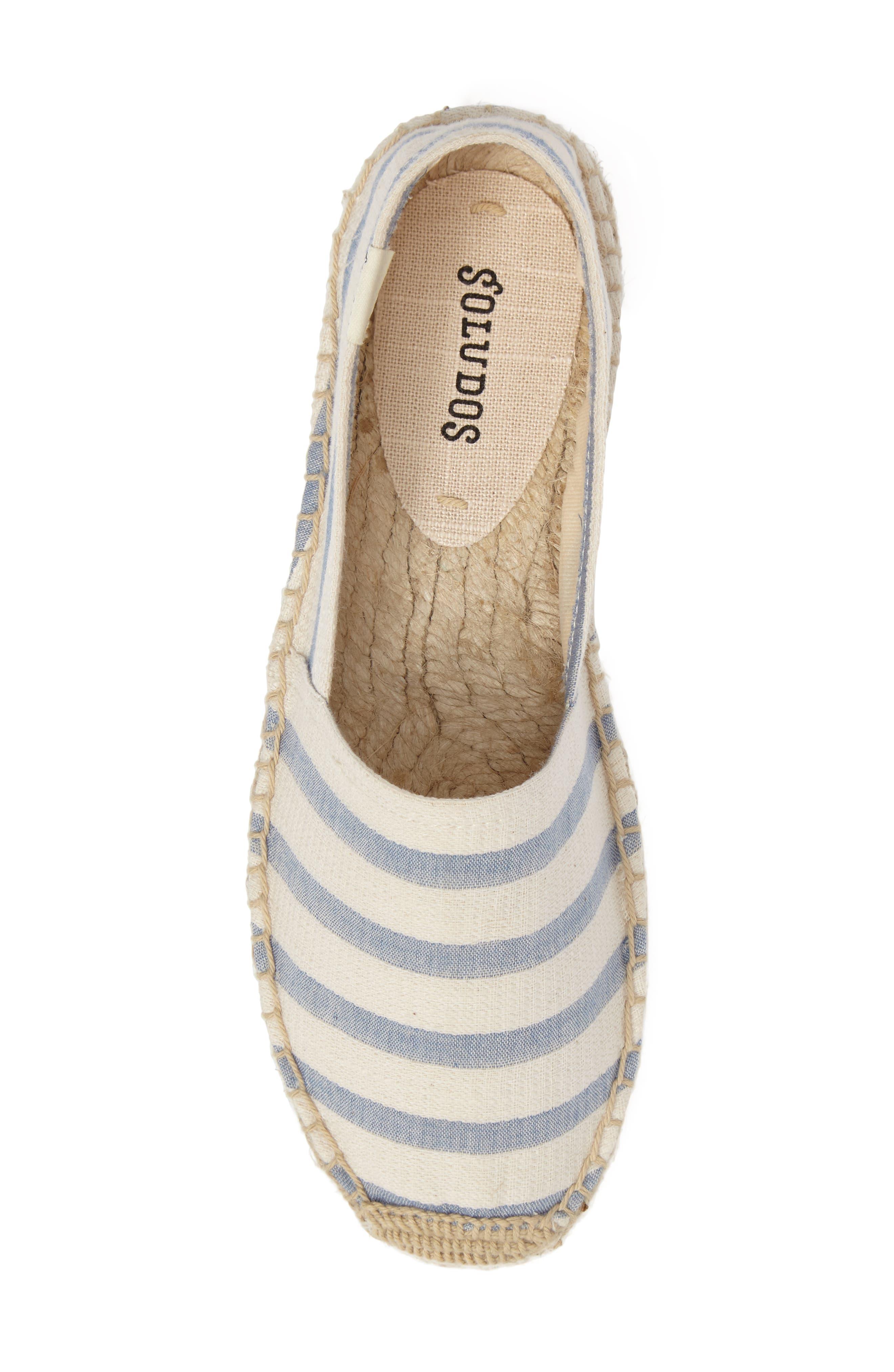 Alternate Image 5  - Soludos Stripe Original Platform Espadrille (Women)