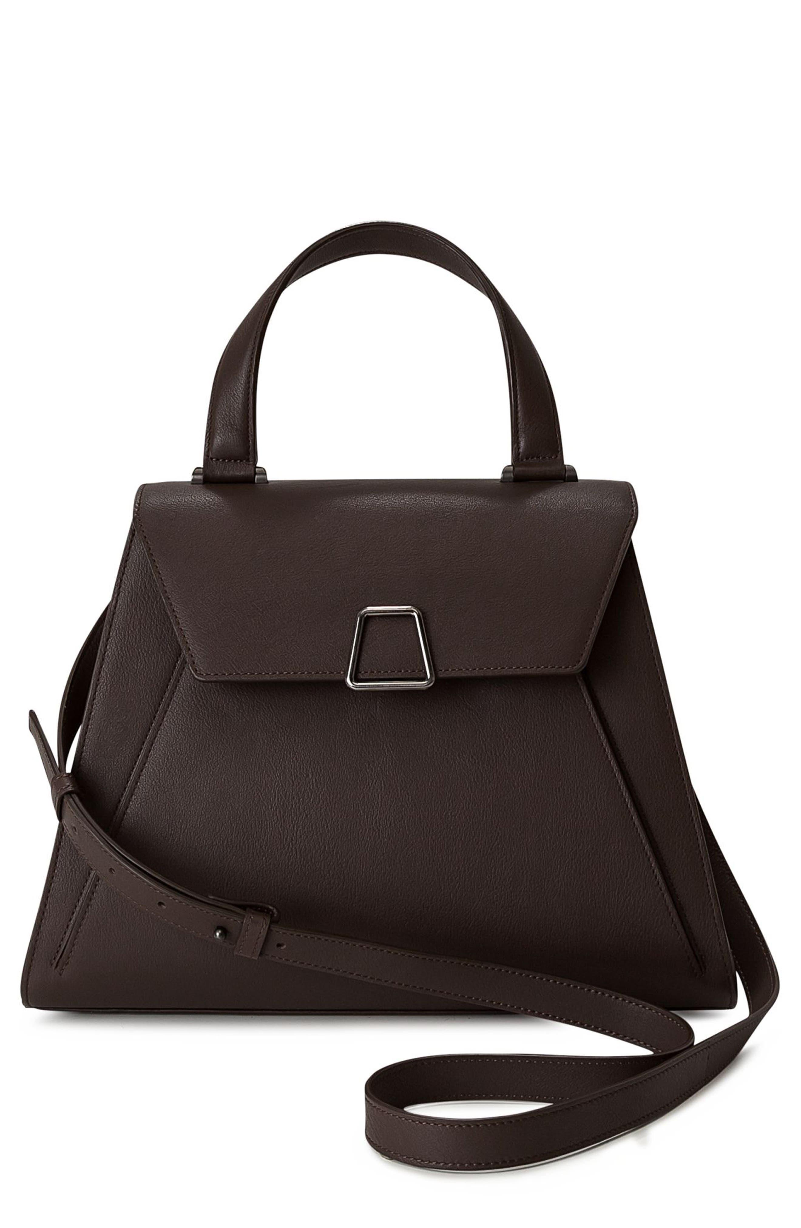 Akris Alba Top Handle Leather Satchel