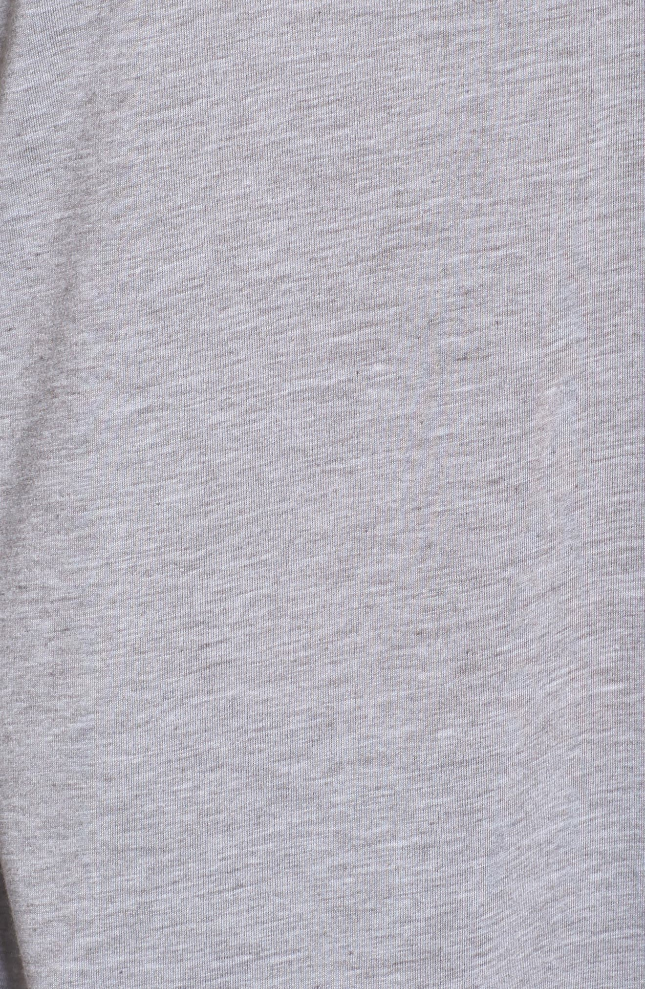 Distance Long Sleeve Running Tee,                             Alternate thumbnail 6, color,                             Heather Sterling