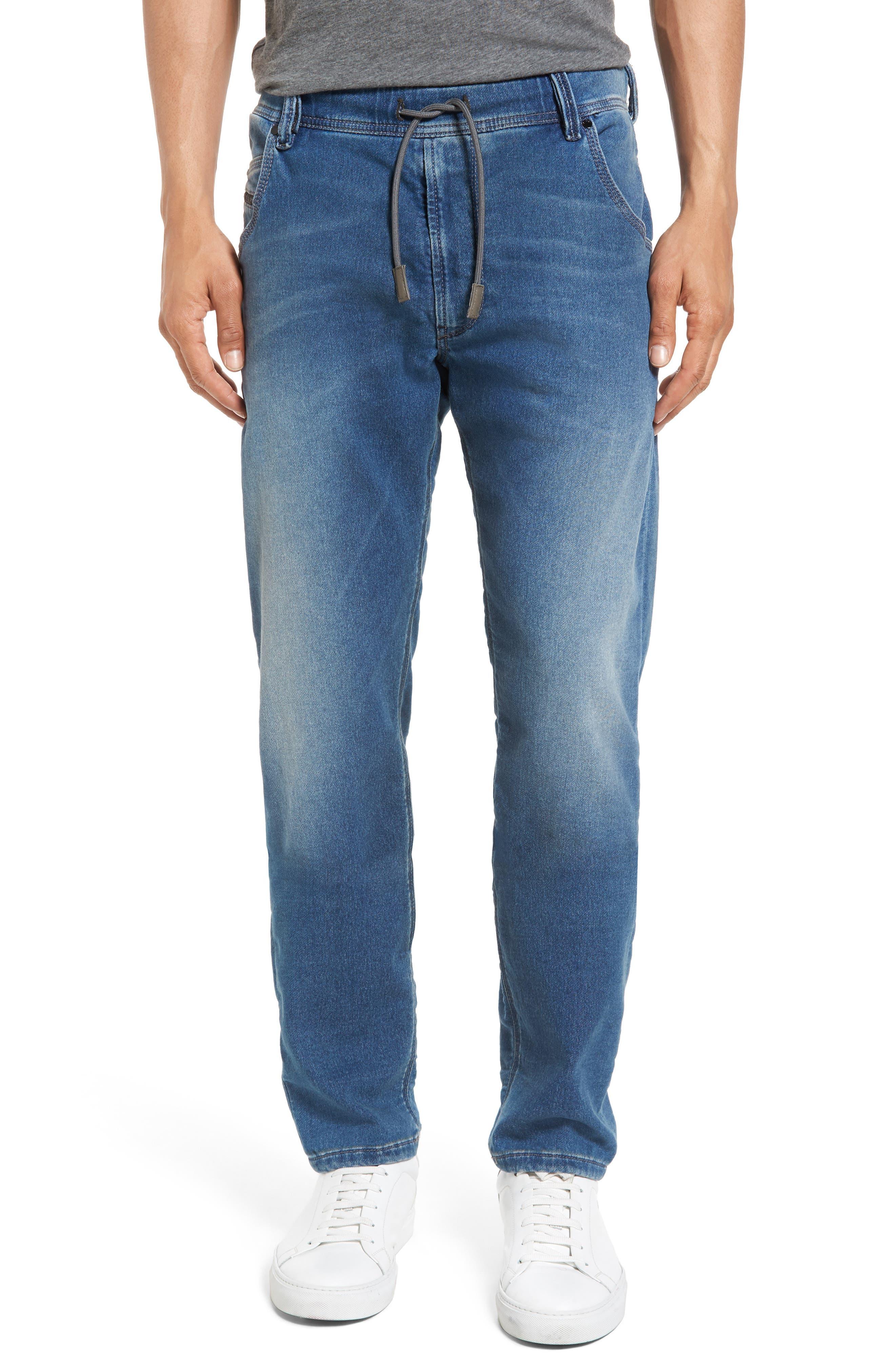 DIESEL<SUP>®</SUP> Krooley Slouchy Skinny Fit Jeans