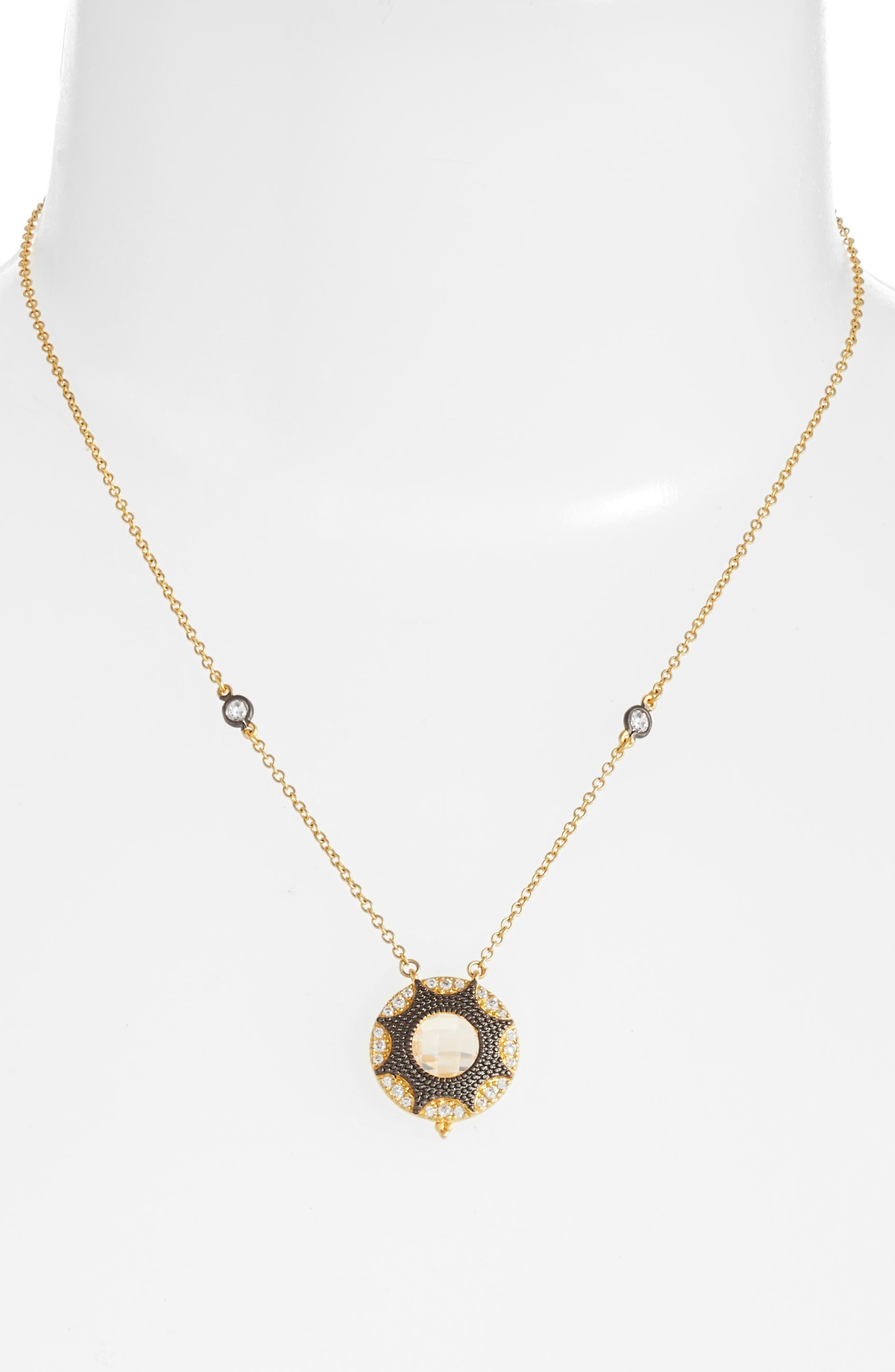 Alternate Image 2  - FREIDA ROTHMAN Round Pendant Necklace