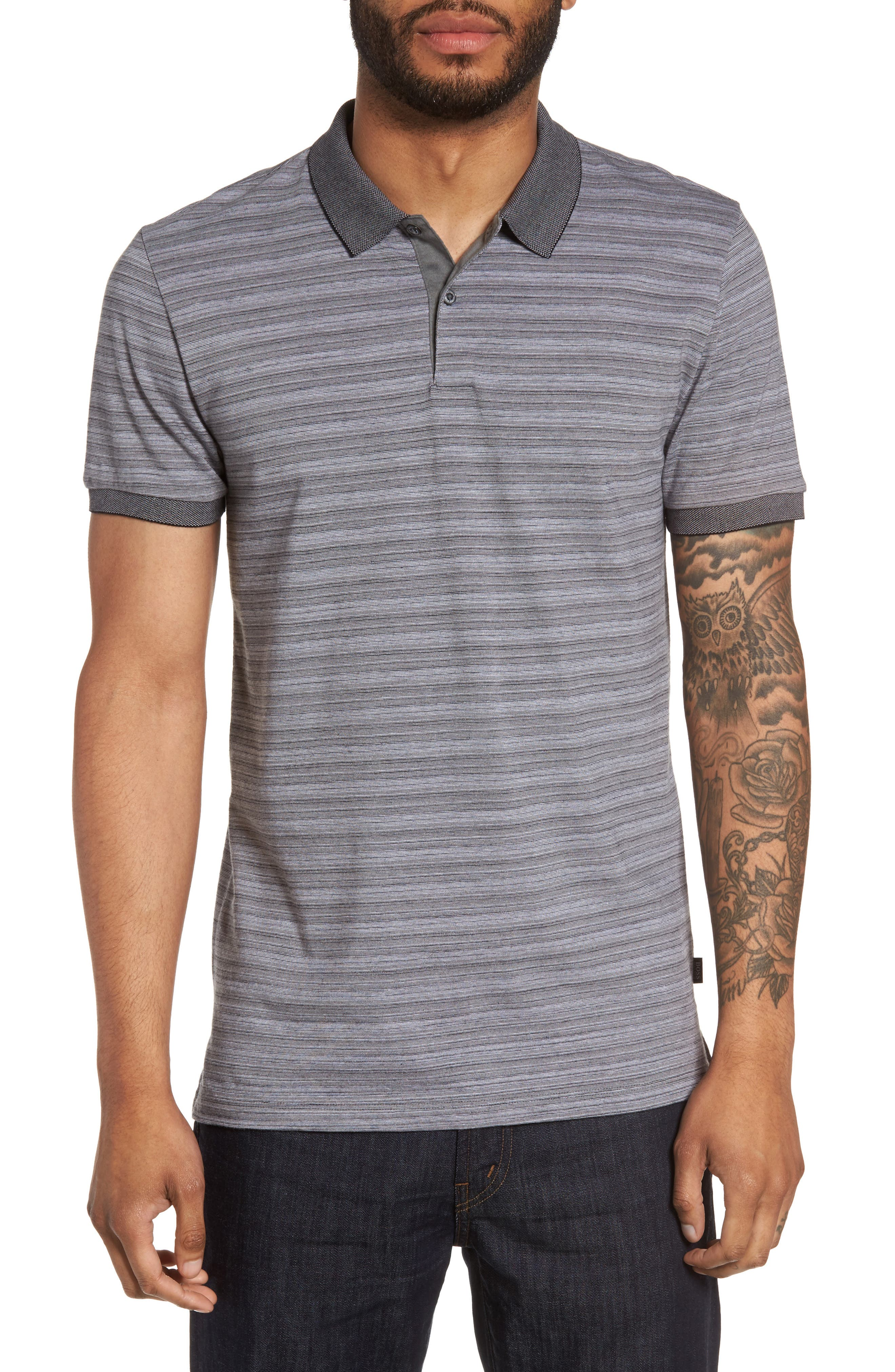 BOSS Phillipson Flame Slim Fit Polo