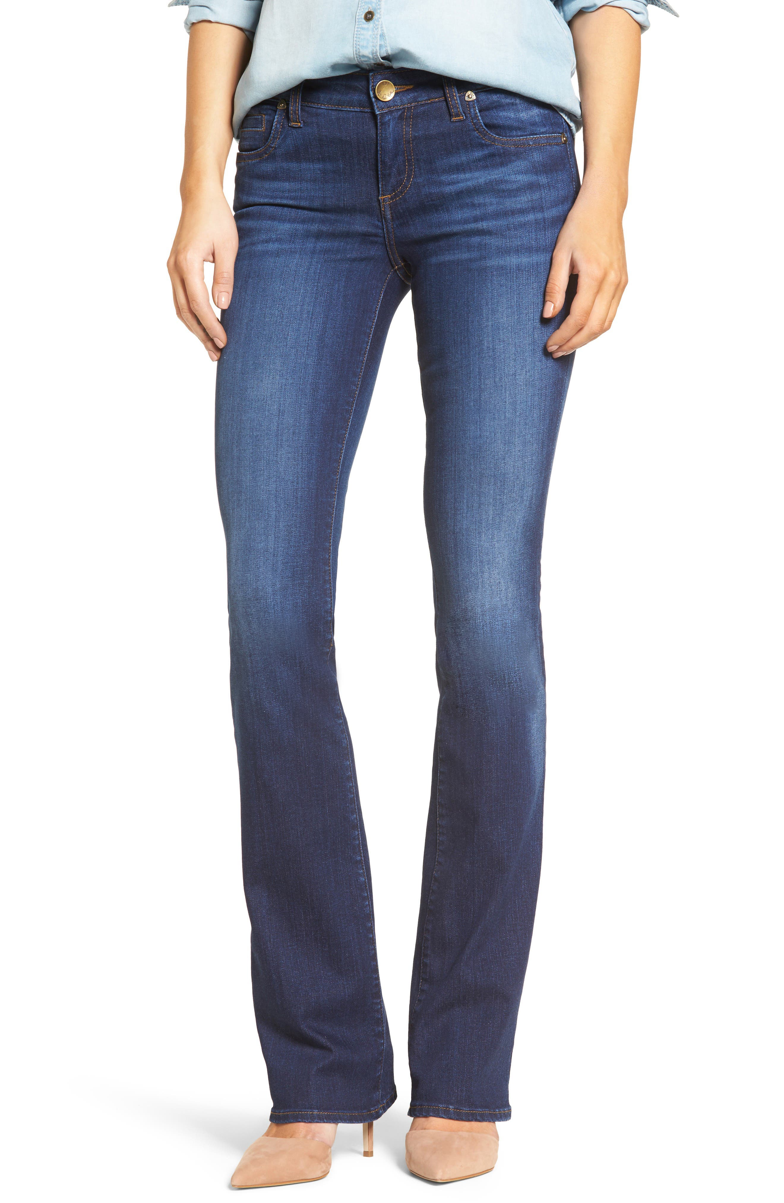 KUT from the Kloth Natalie Stretch Bootleg Jeans (Invigorated) (Regular & Petite)