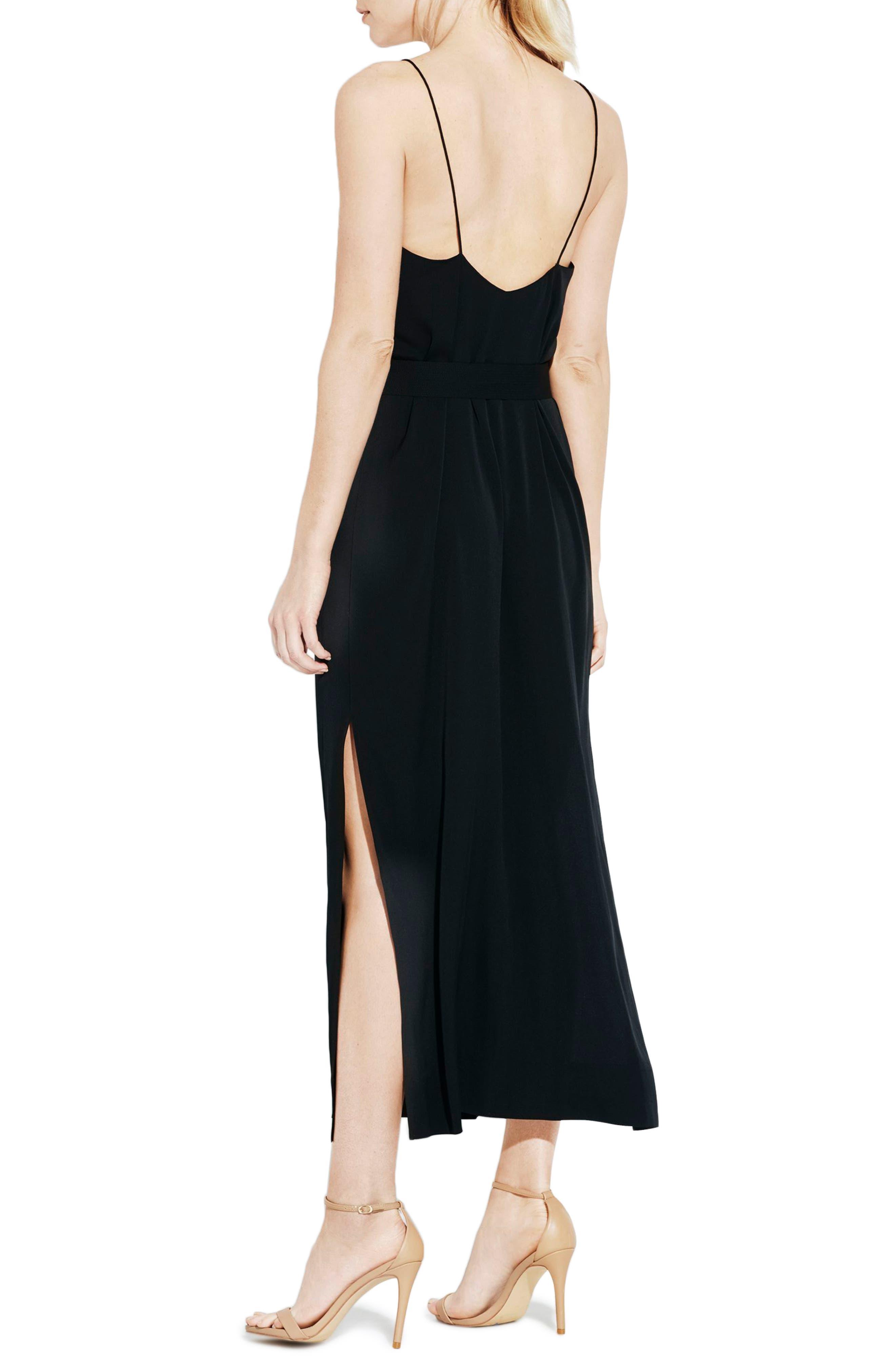 The Niche Silk Dress,                             Alternate thumbnail 2, color,                             Black