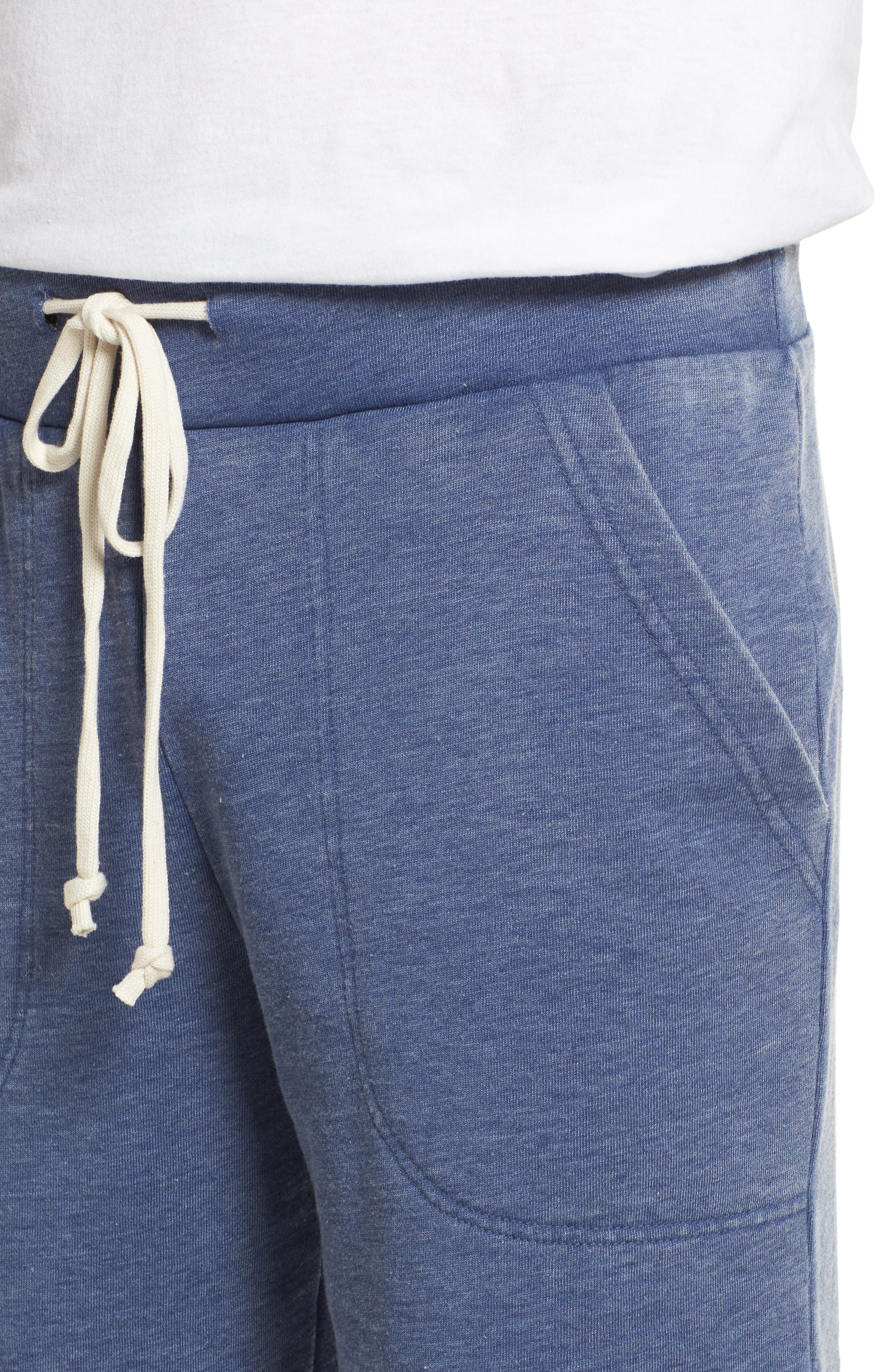 'Victory' French Terry Shorts,                             Alternate thumbnail 4, color,                             Navy