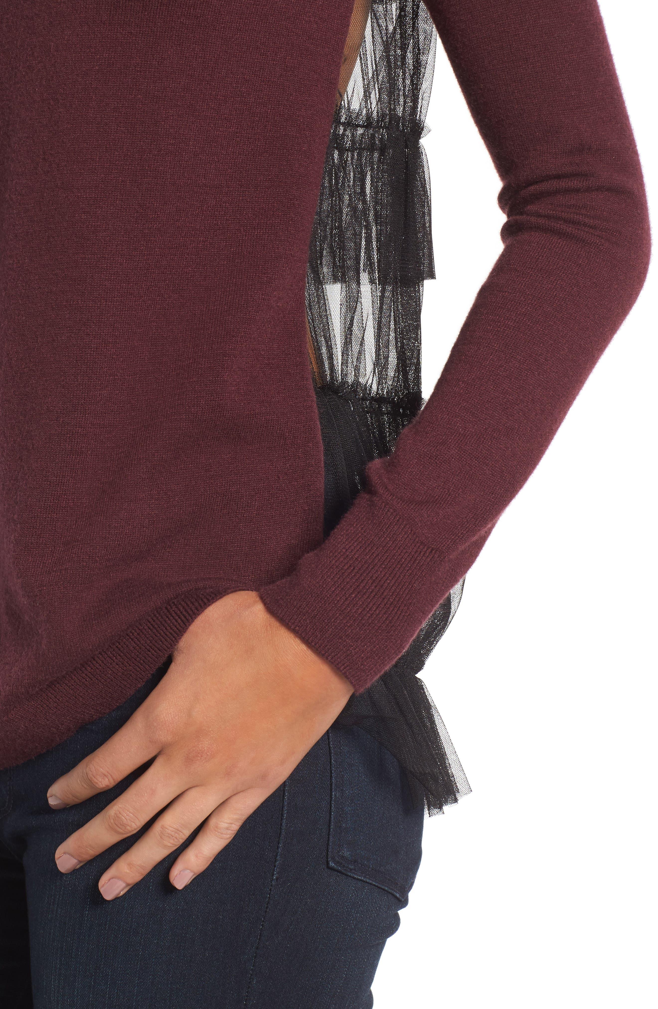 Alternate Image 3  - Chelsea28 Tulle Back Sweater