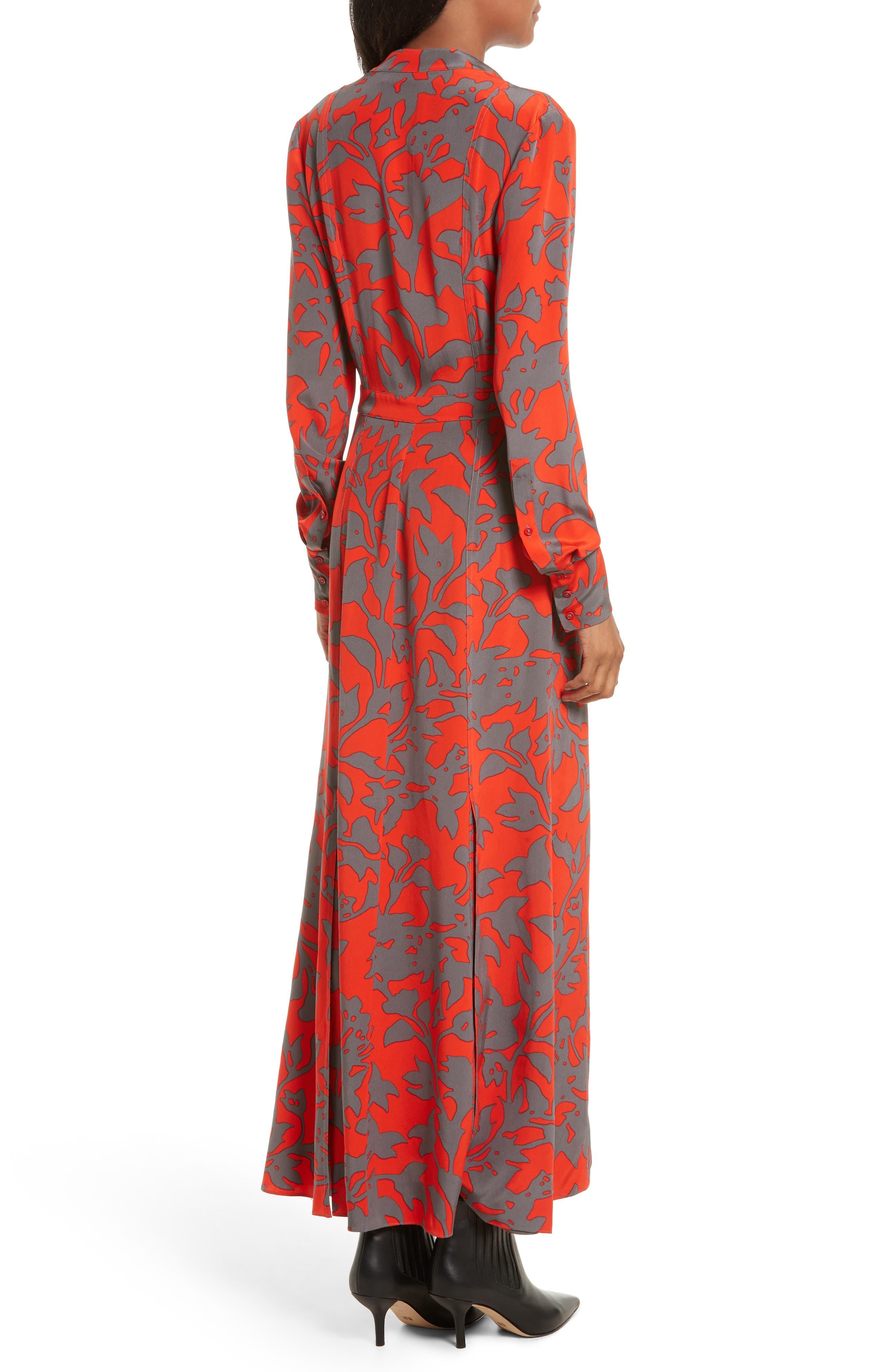Alternate Image 2  - Diane von Furstenberg Print Silk Maxi Shirtdress