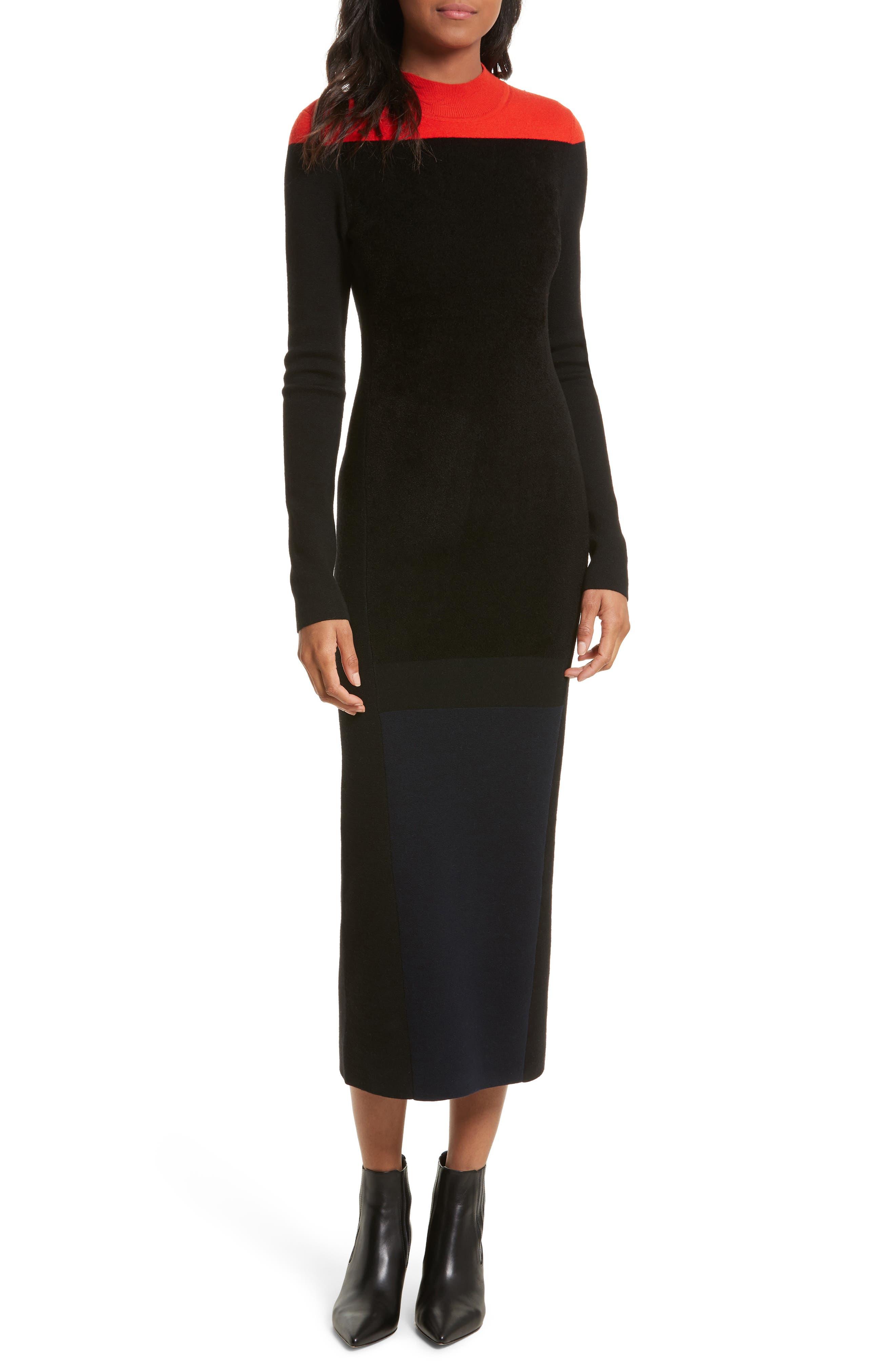 Main Image - Diane von Furstenberg Contrast Yoke Midi Dress