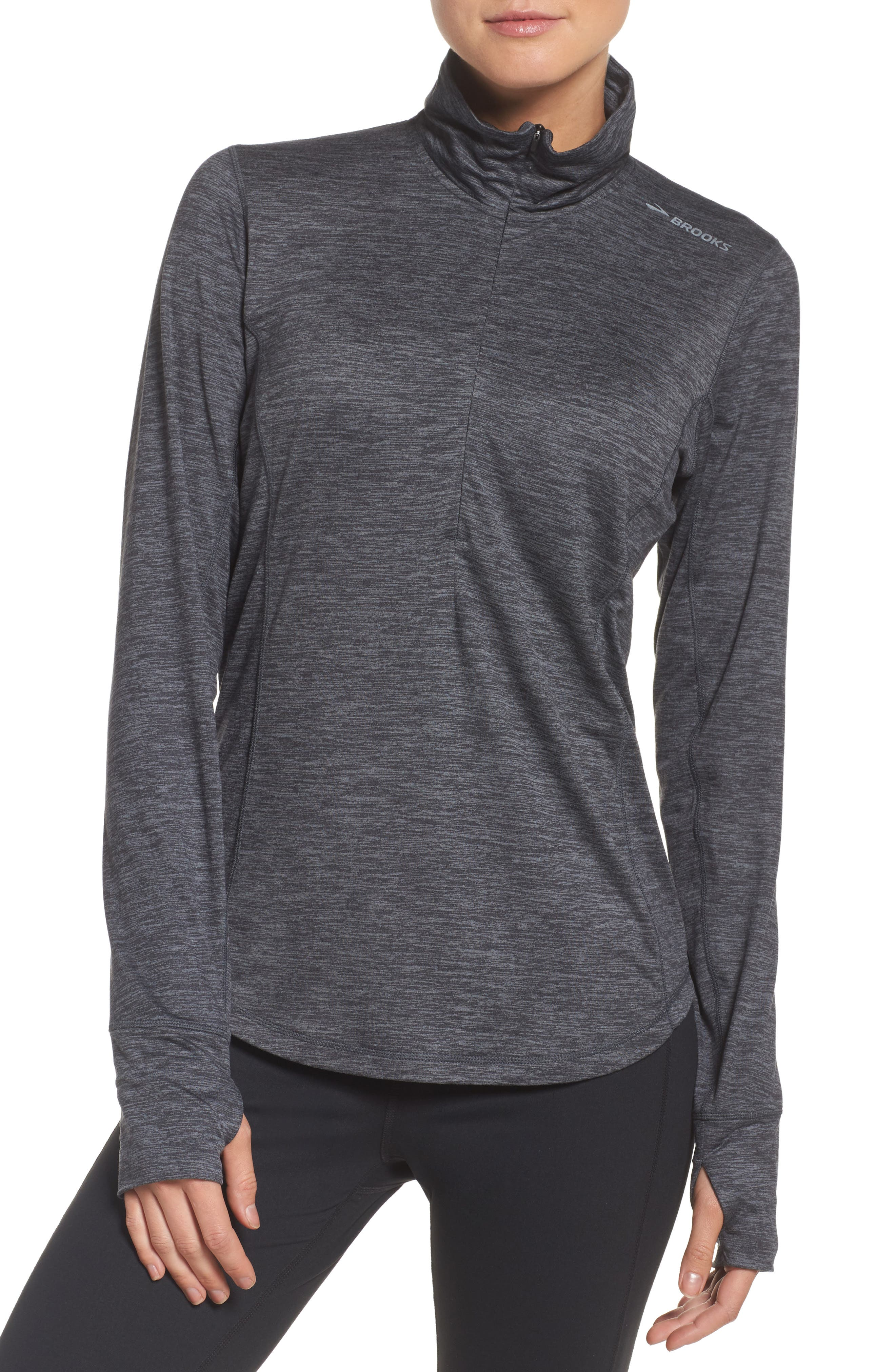 'Dash' Half Zip Jacket,                         Main,                         color, Heather Asphalt